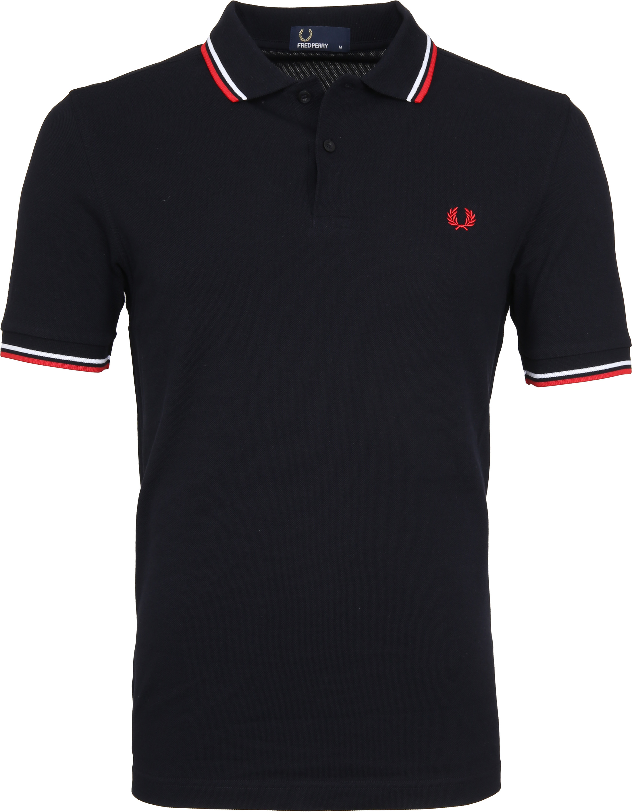 Fred Perry Polo Shirt Navy White Red foto 0