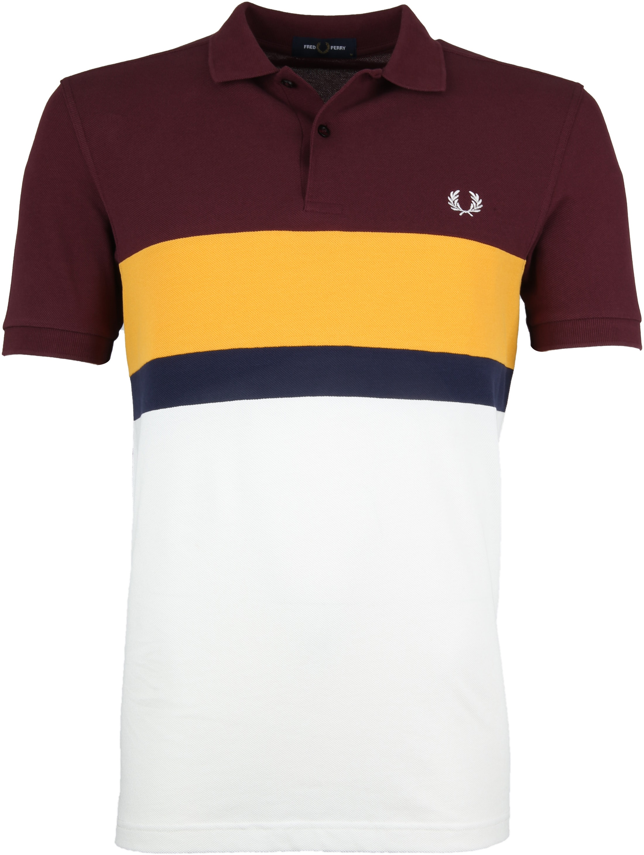 Fred Perry Polo Shirt Stripes Mahogany