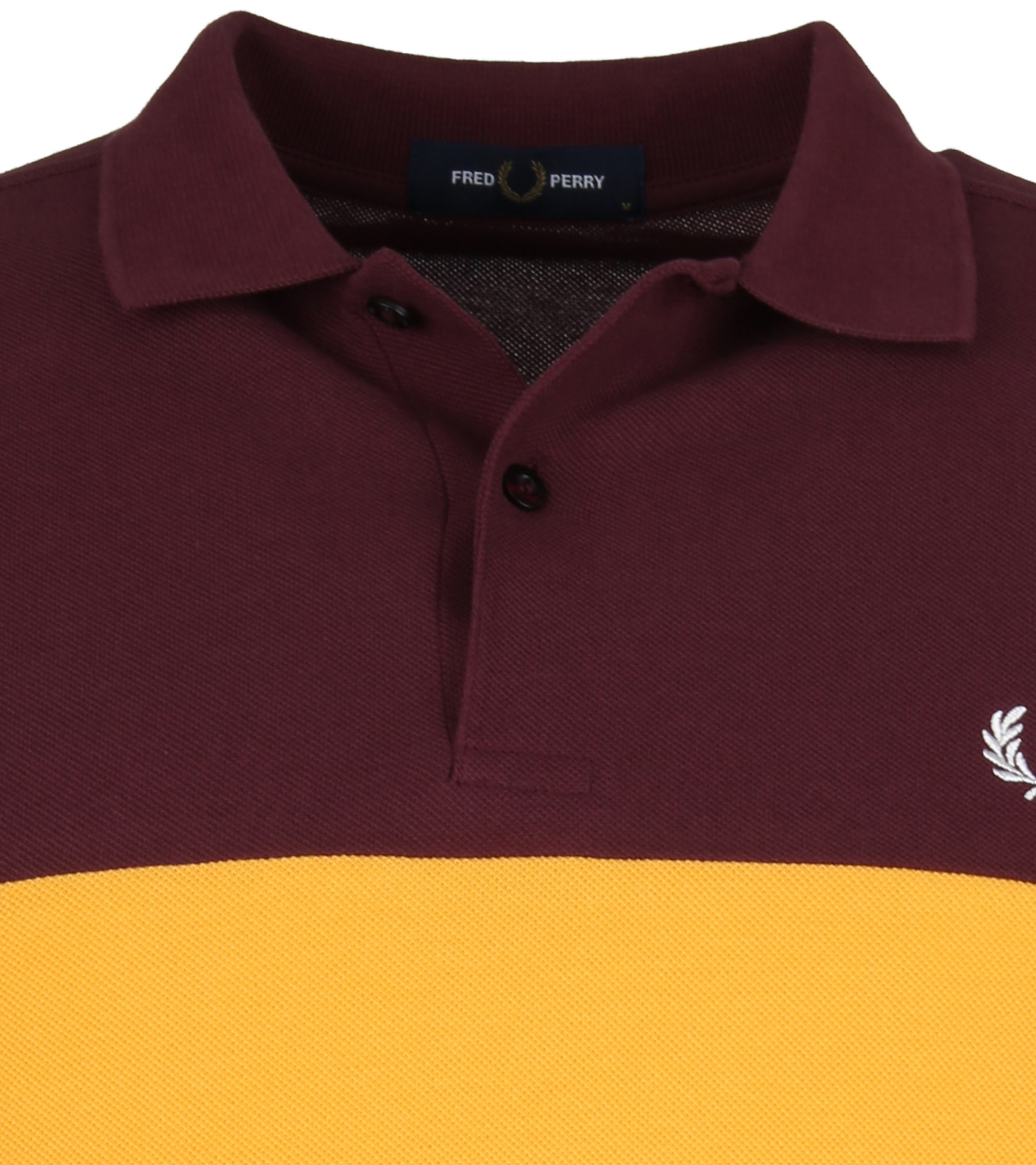 Fred Perry Polo Strepen Mahogany
