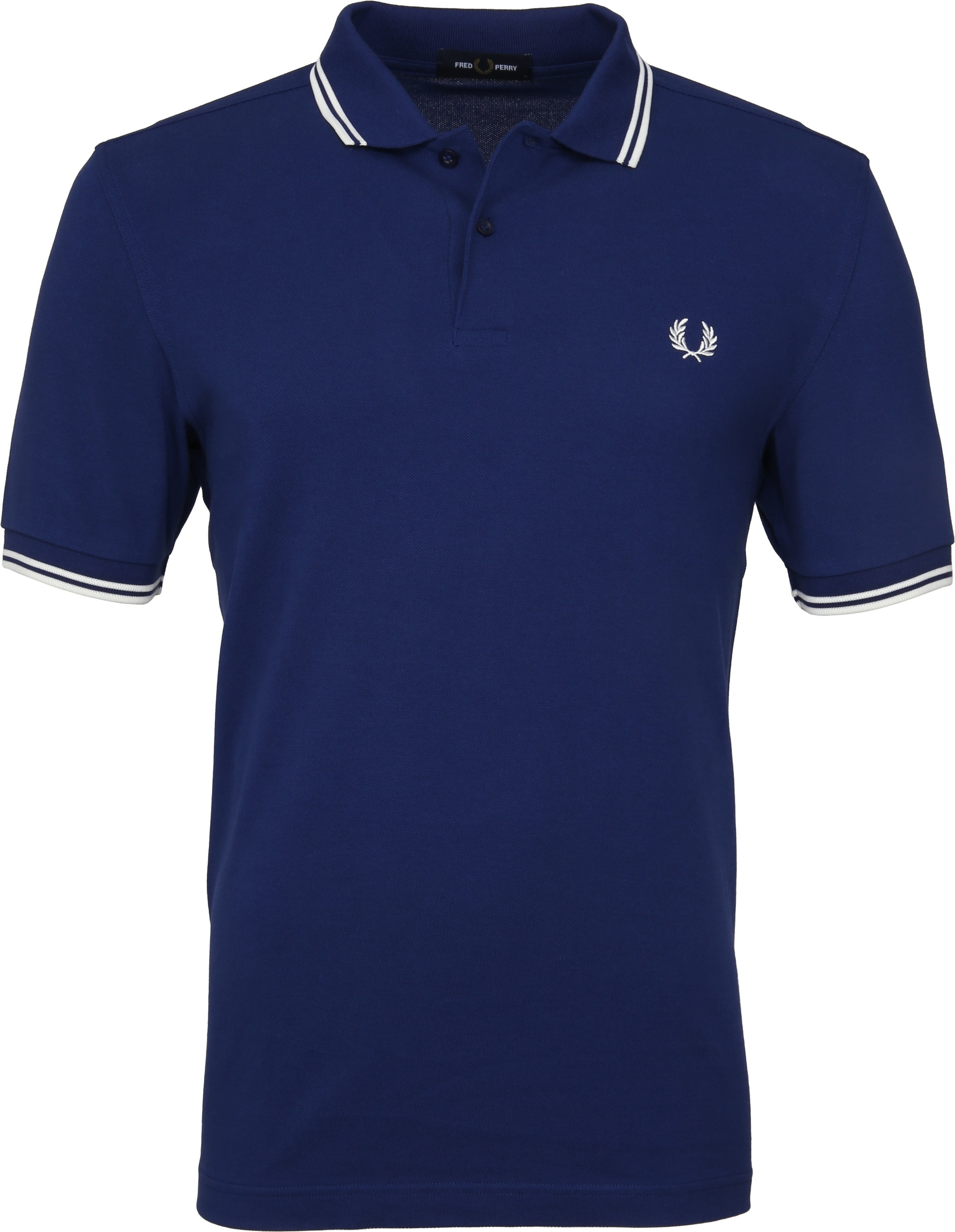 Fred Perry Polo Twin Tipped Blauw I71 foto 0