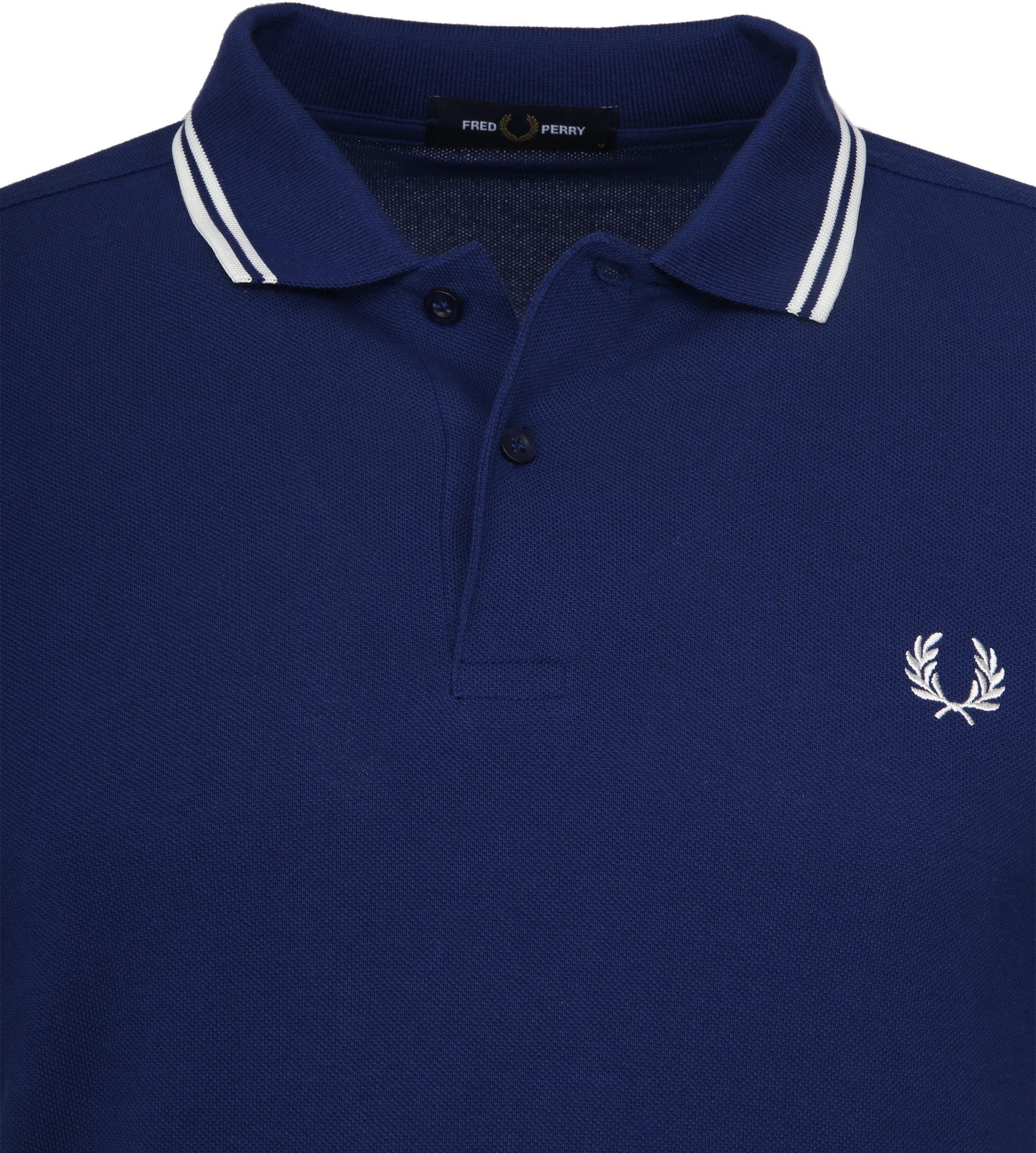 Fred Perry Polo Twin Tipped Blauw I71 foto 2