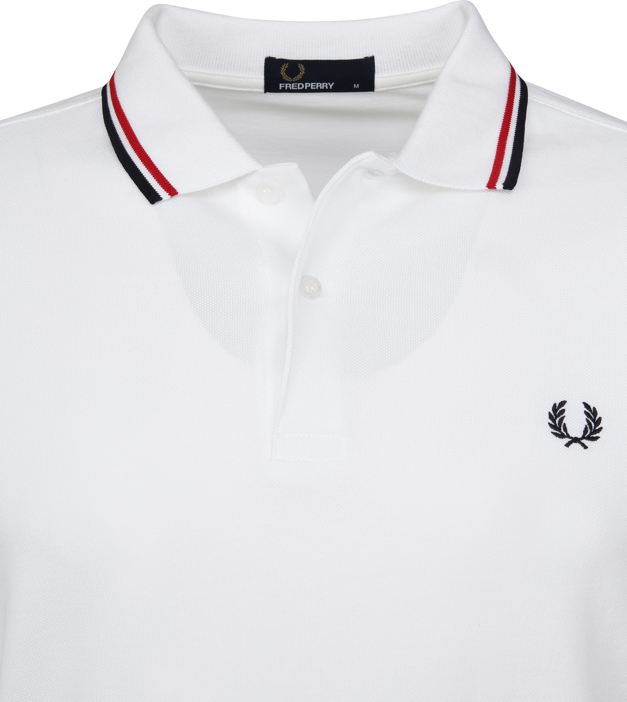 Fred Perry Polo Weiß 748 foto 2