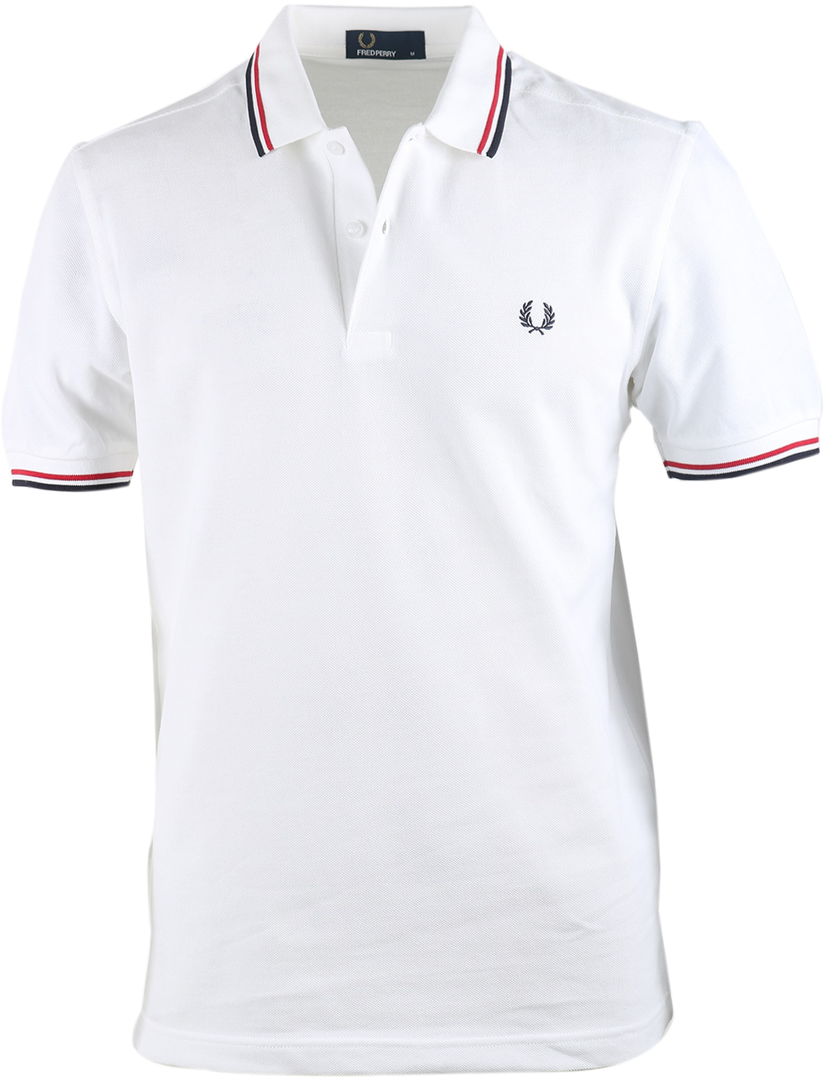 Fred Perry Polo Wit 748 foto 0