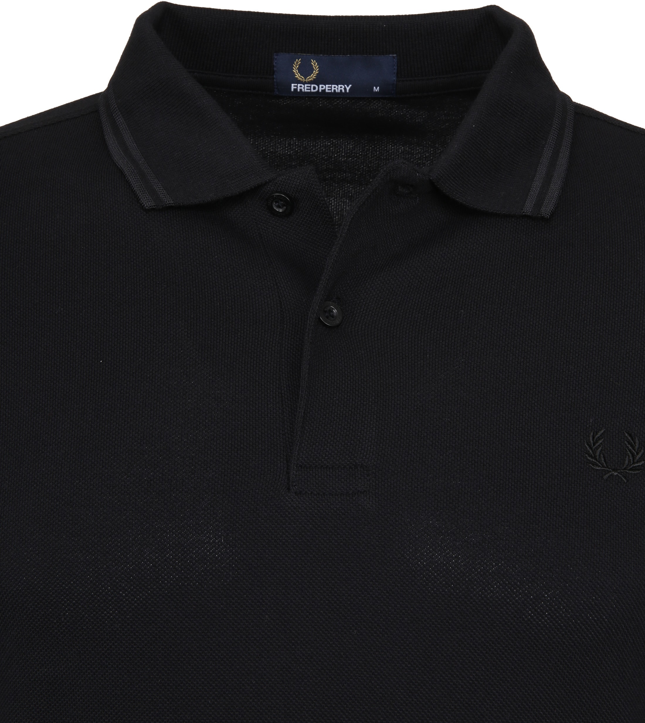 Fred Perry Polo Zwart G32 foto 1