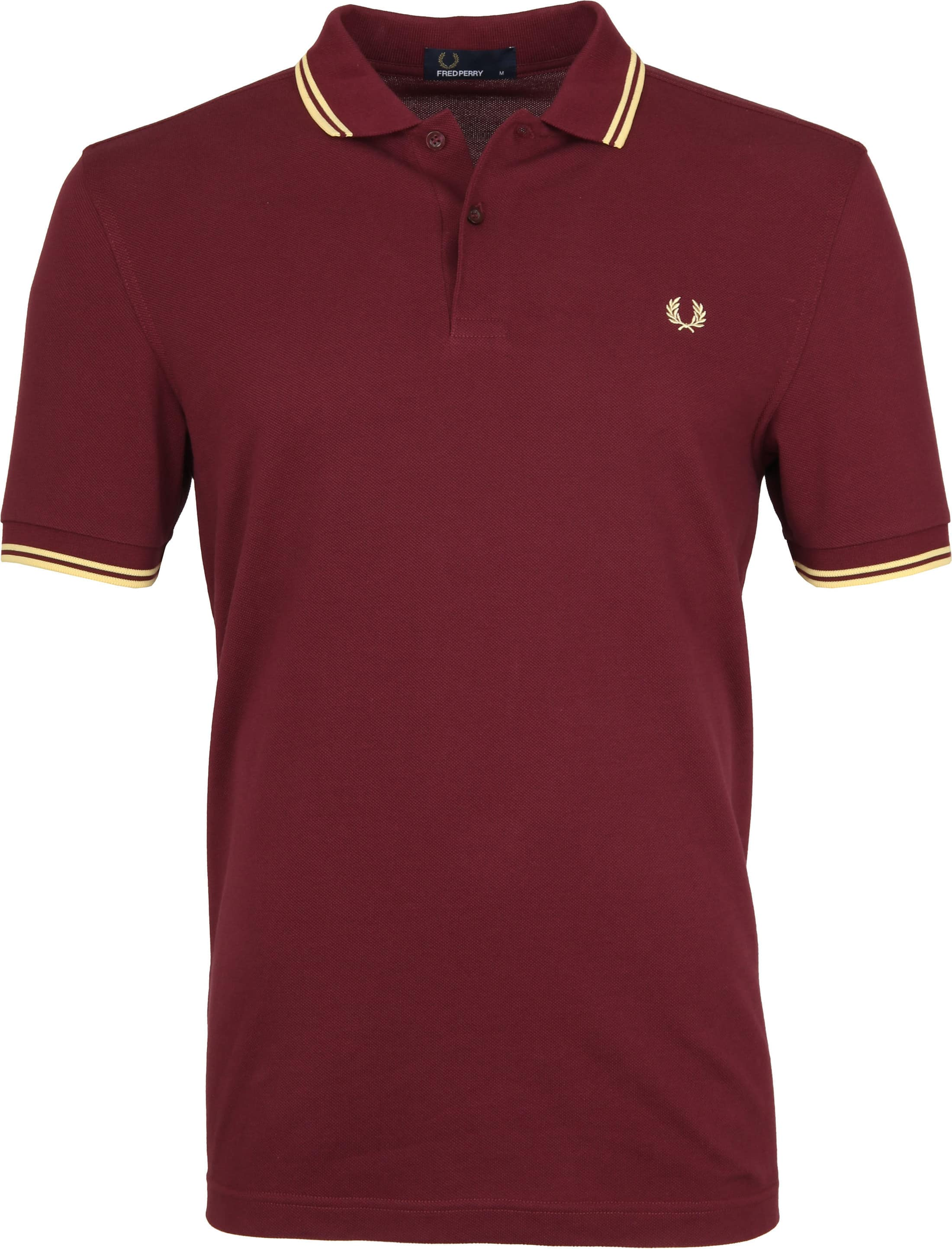 Fred Perry Poloshirt Bordeaux 472 foto 0