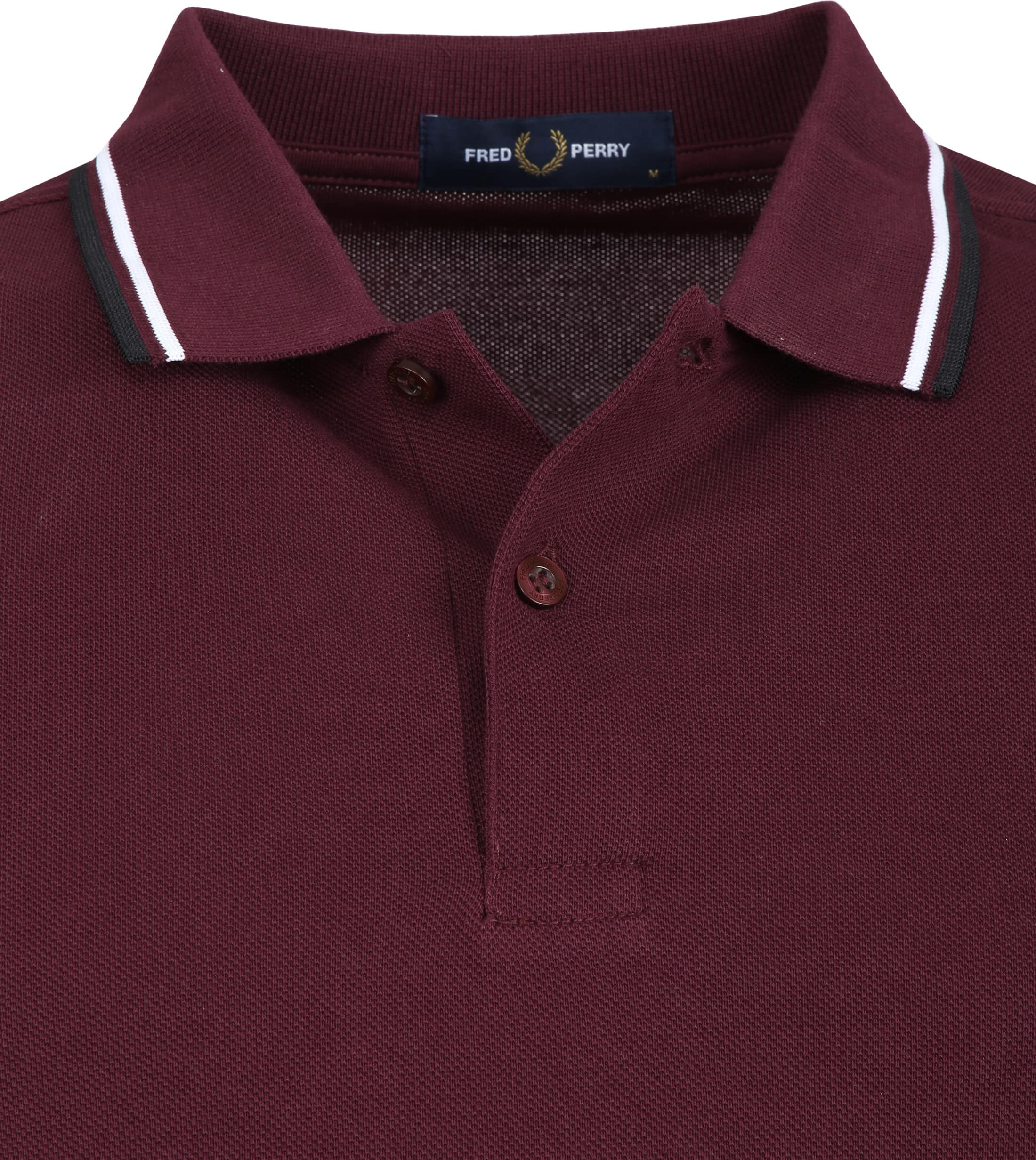 Fred Perry Poloshirt Bordeaux I74 photo 1