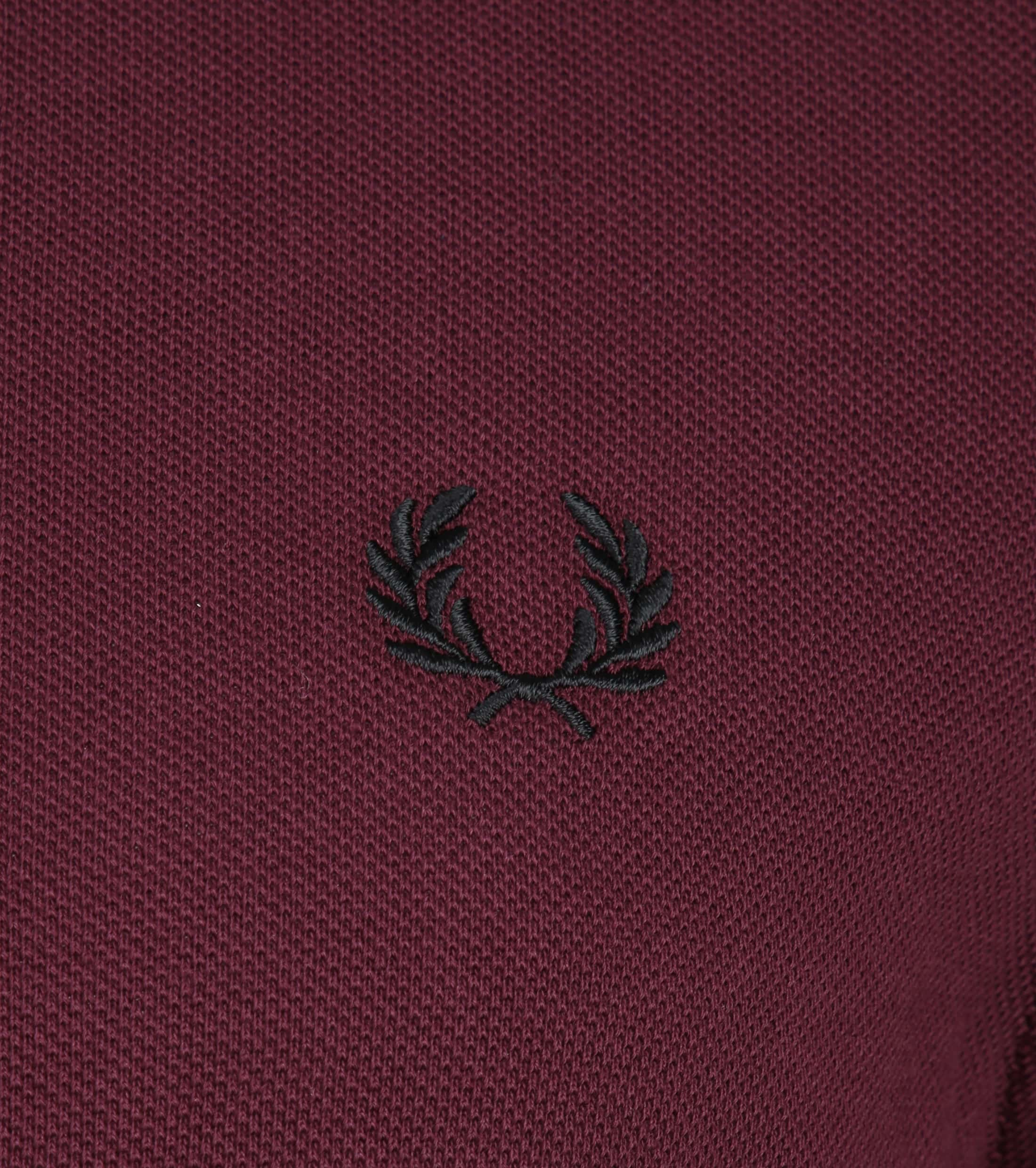 Fred Perry Poloshirt Bordeaux I74 photo 2