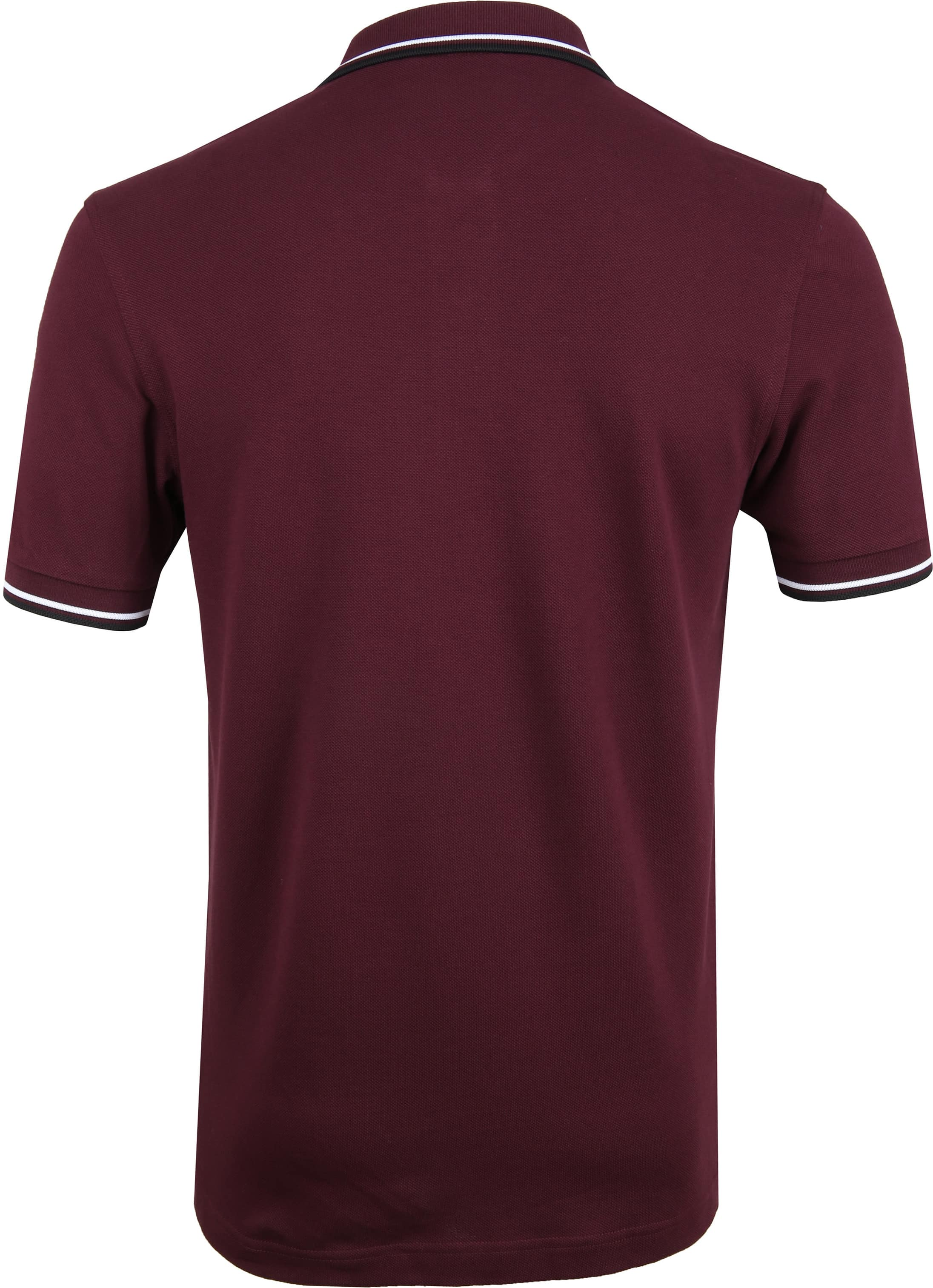 Fred Perry Poloshirt Bordeaux I74 photo 3