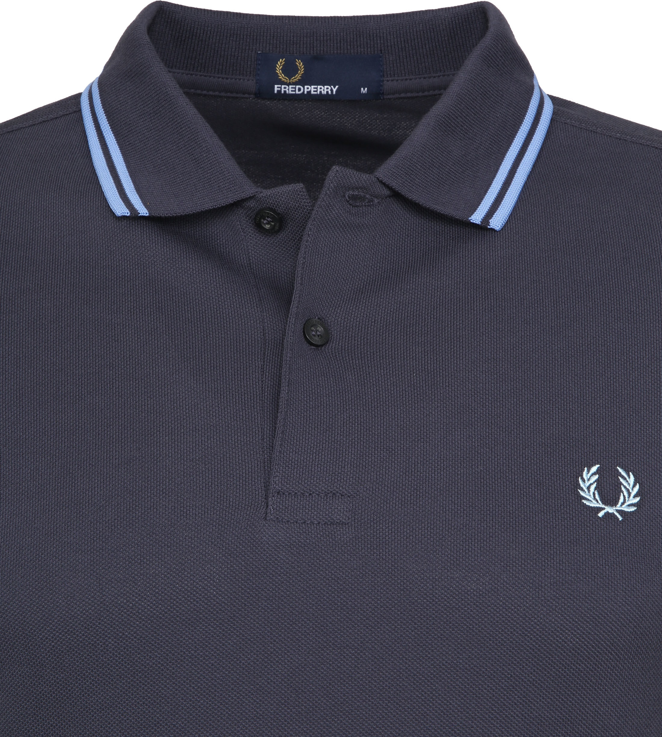 Fred Perry Poloshirt Dark Grey Blue C12 foto 2