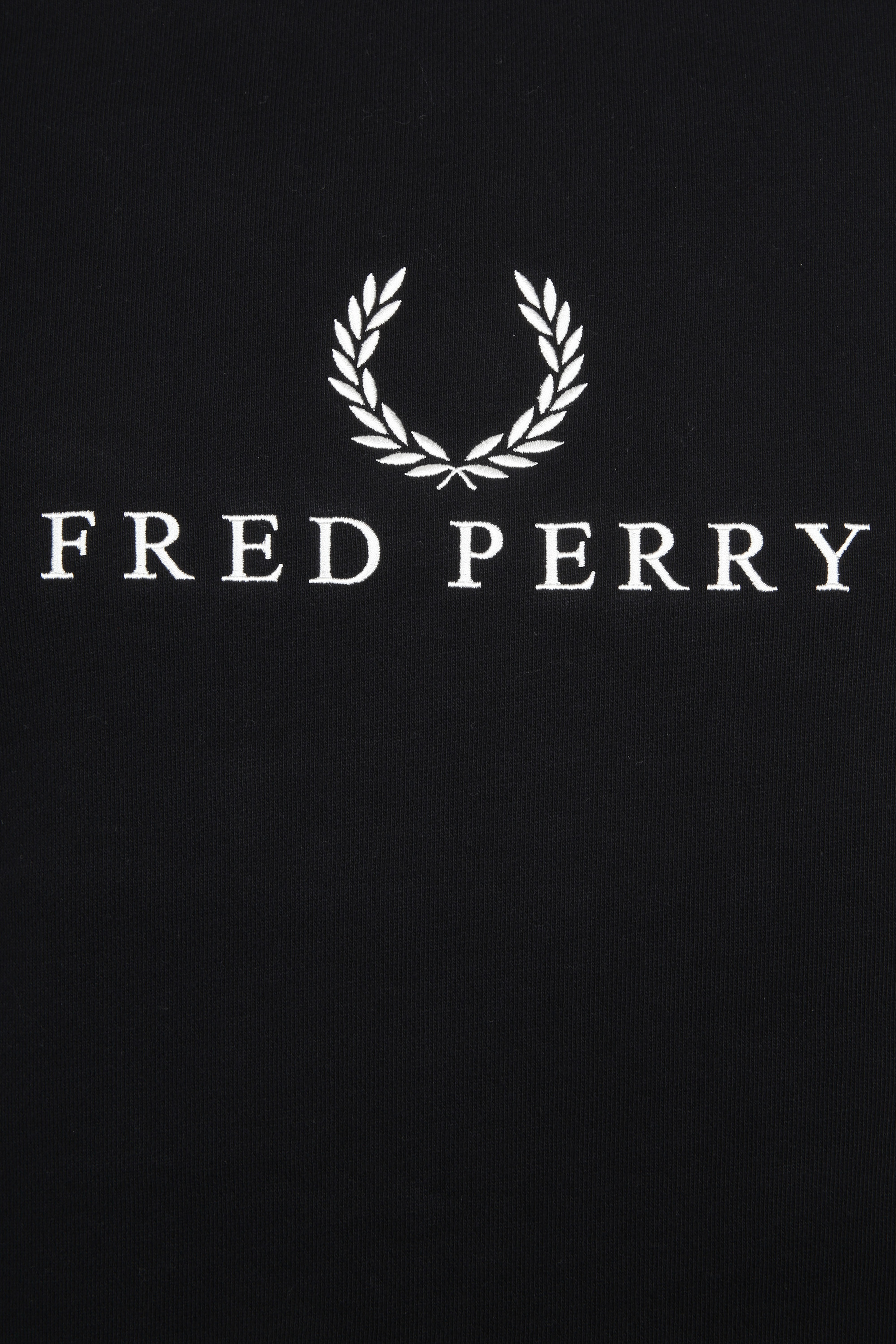 Fred Perry Sweater Black Logo foto 1