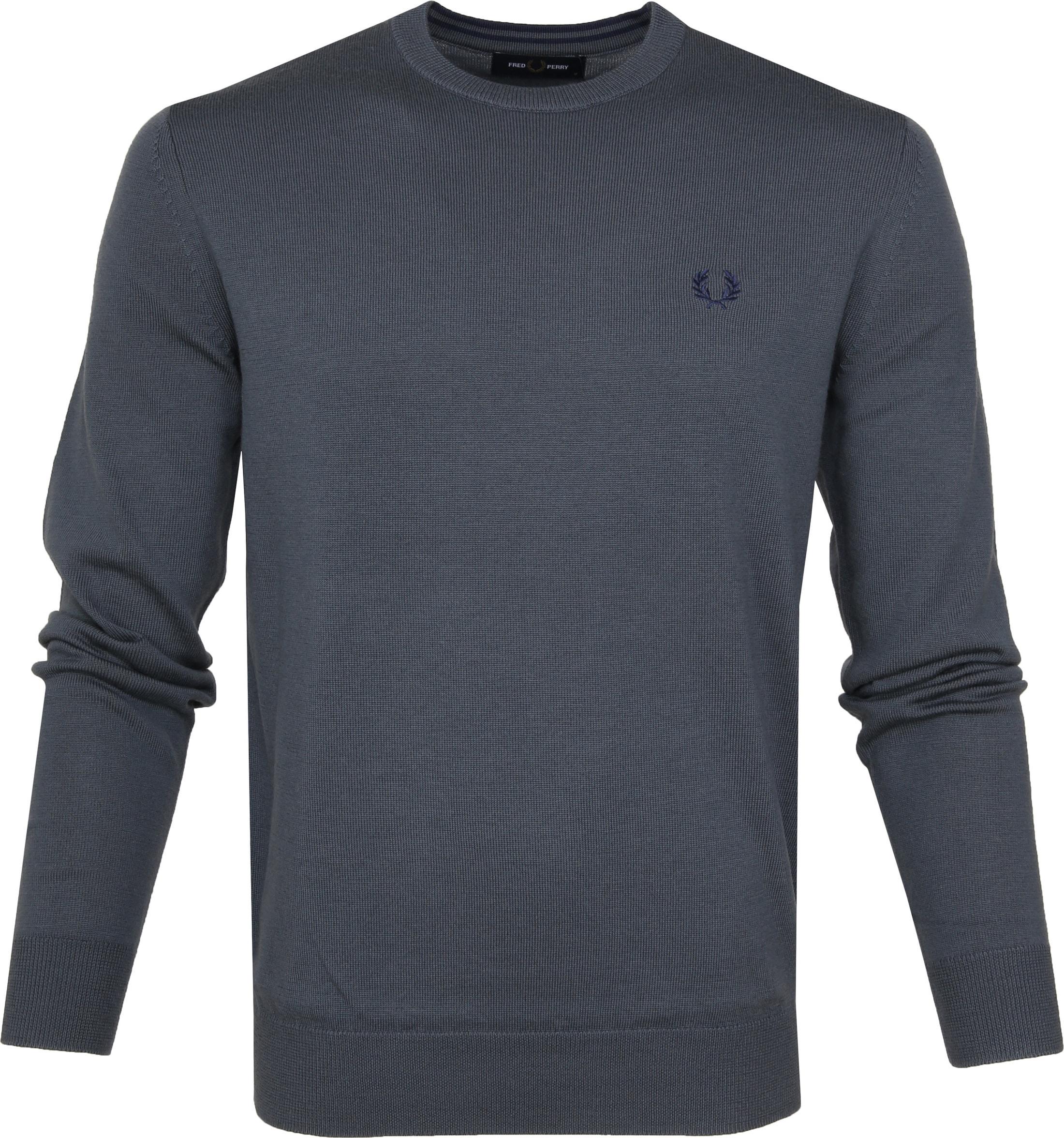 Fred Perry Sweater Classic Merino Grey foto 0