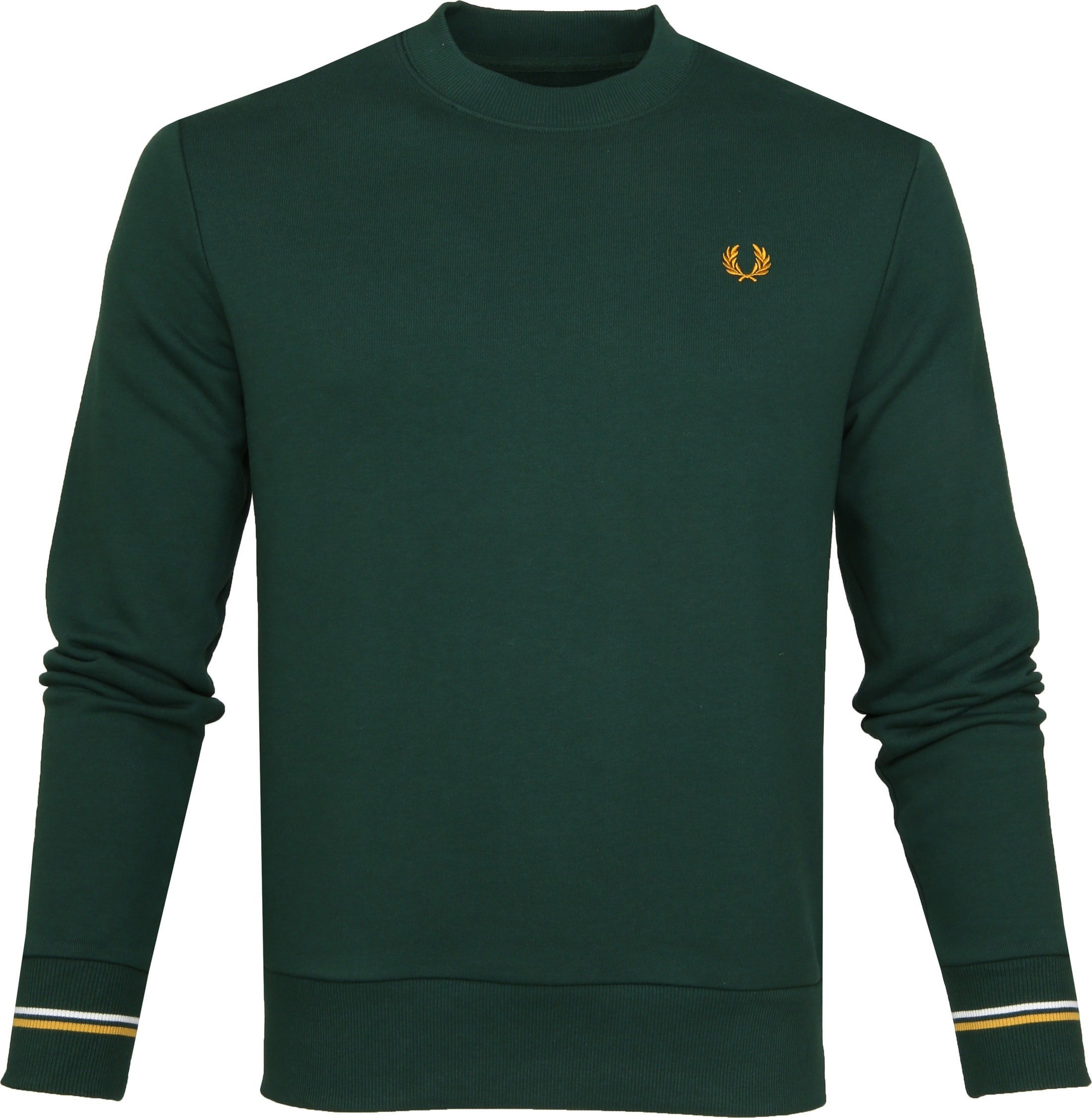 Fred Perry Sweater Crew Groen foto 0