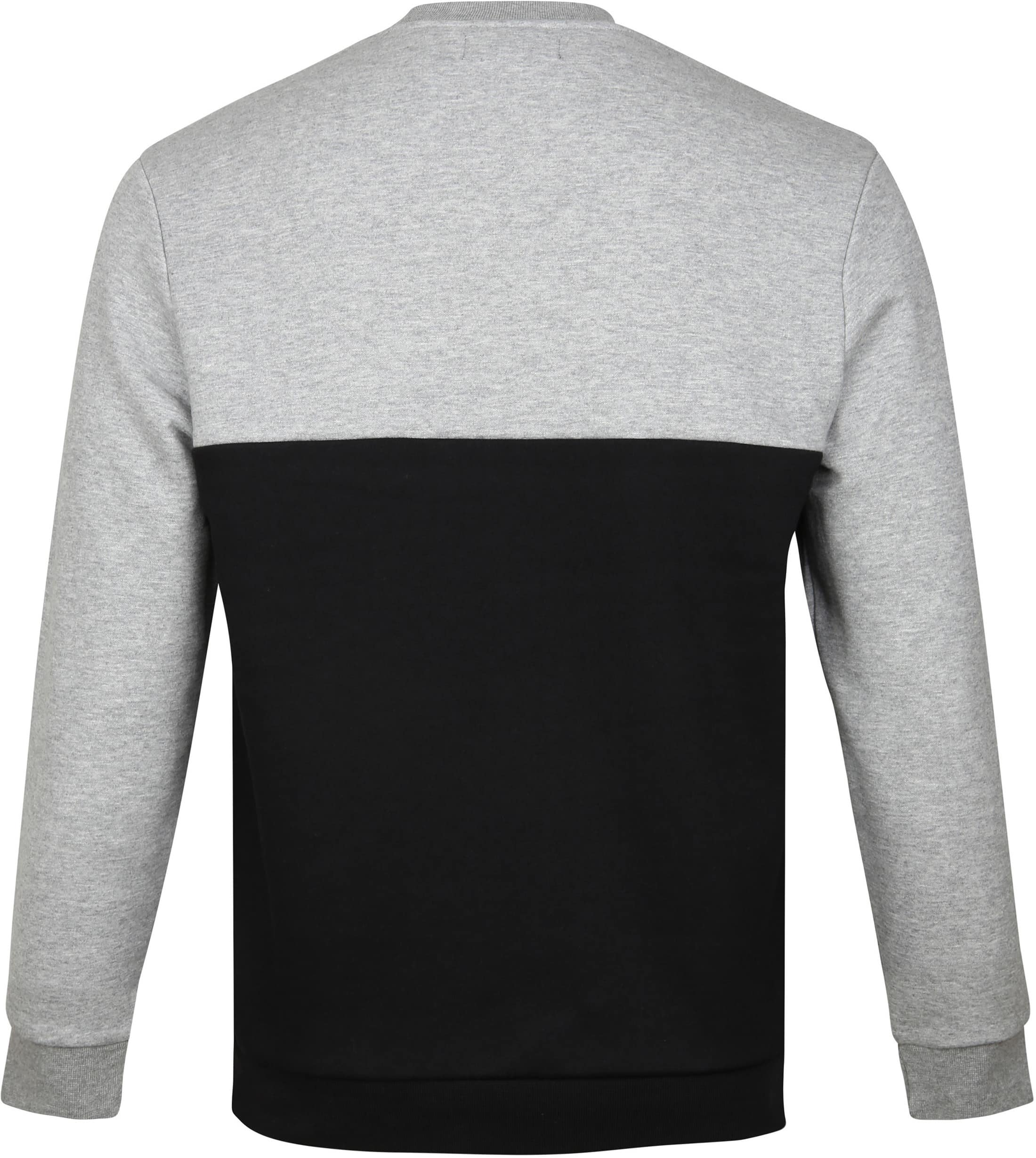 Fred Perry Sweater Grey Black Logo foto 2