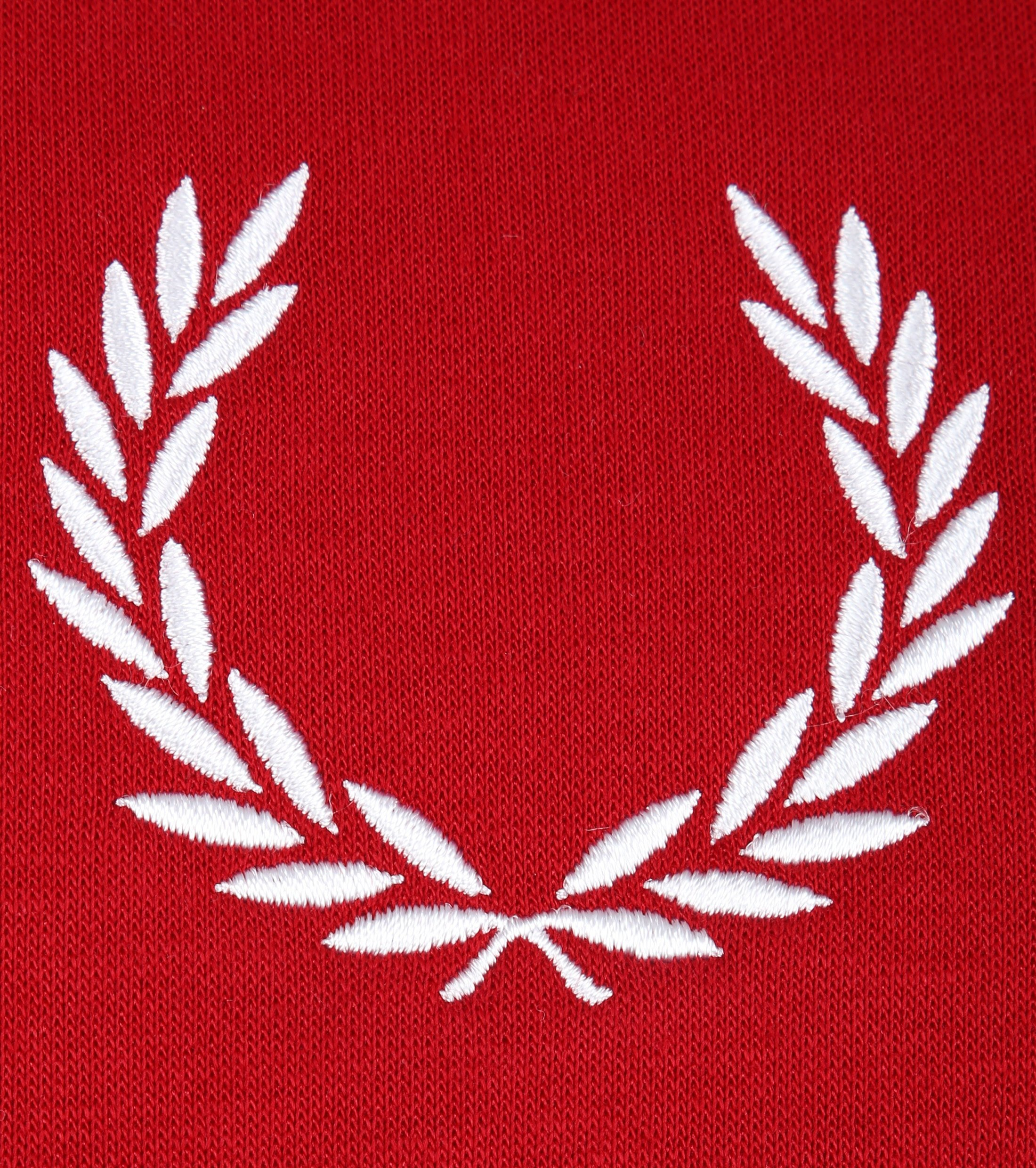 Fred Perry Sweater Logo Rood foto 2