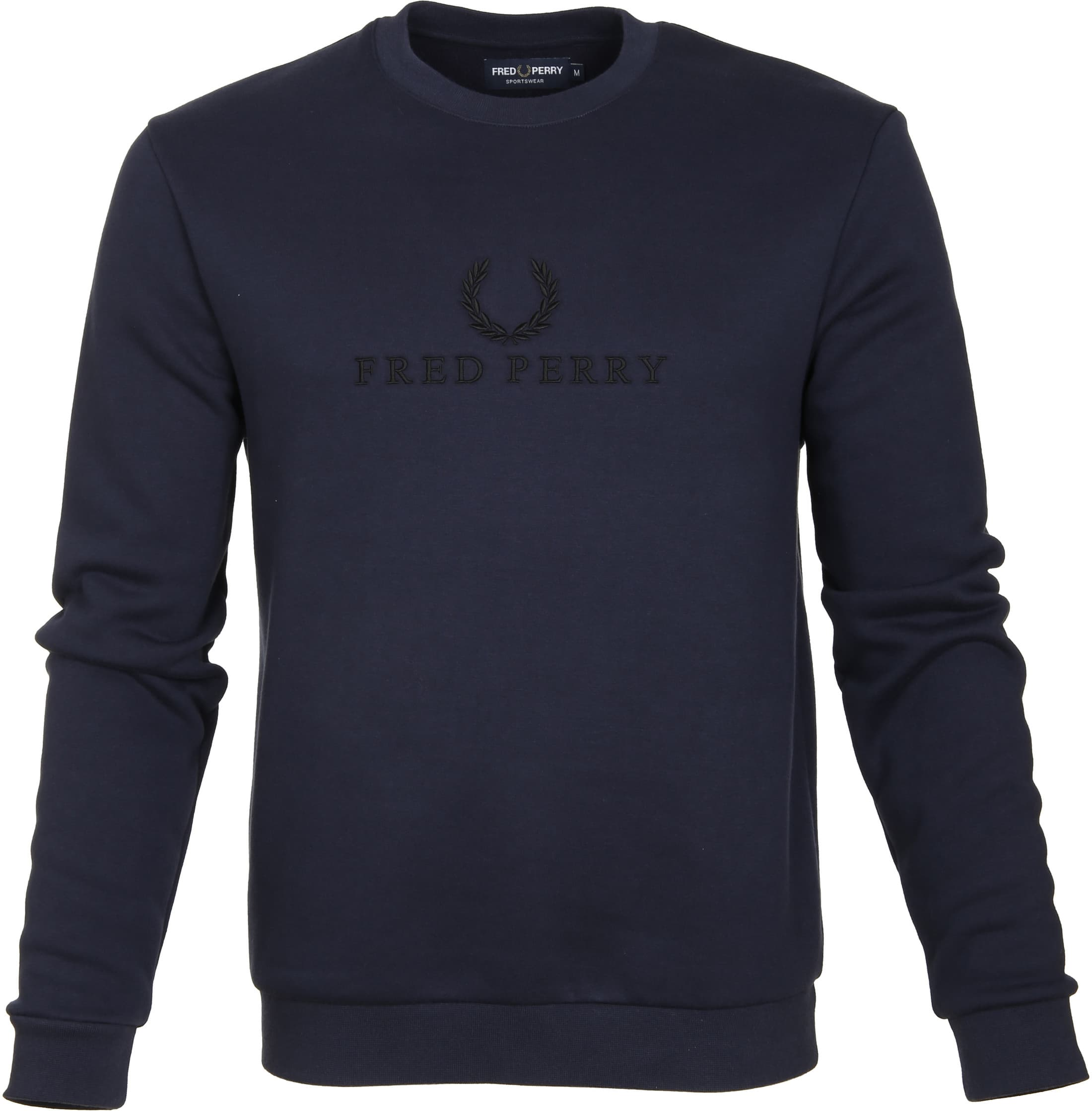 Fred Perry Sweater Navy Logo foto 0