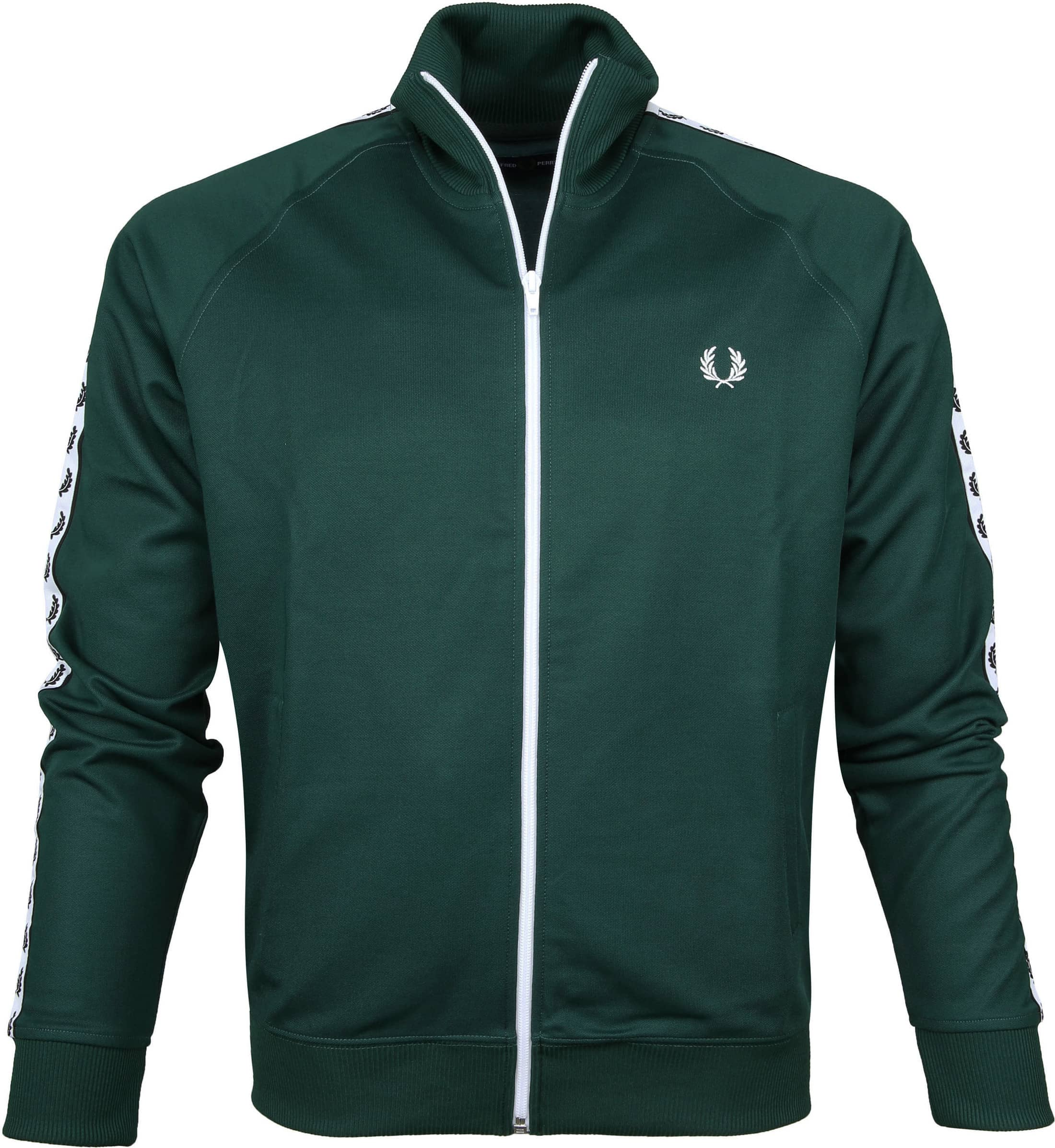 Fred Perry Taped Track Jacket Ivy Groen