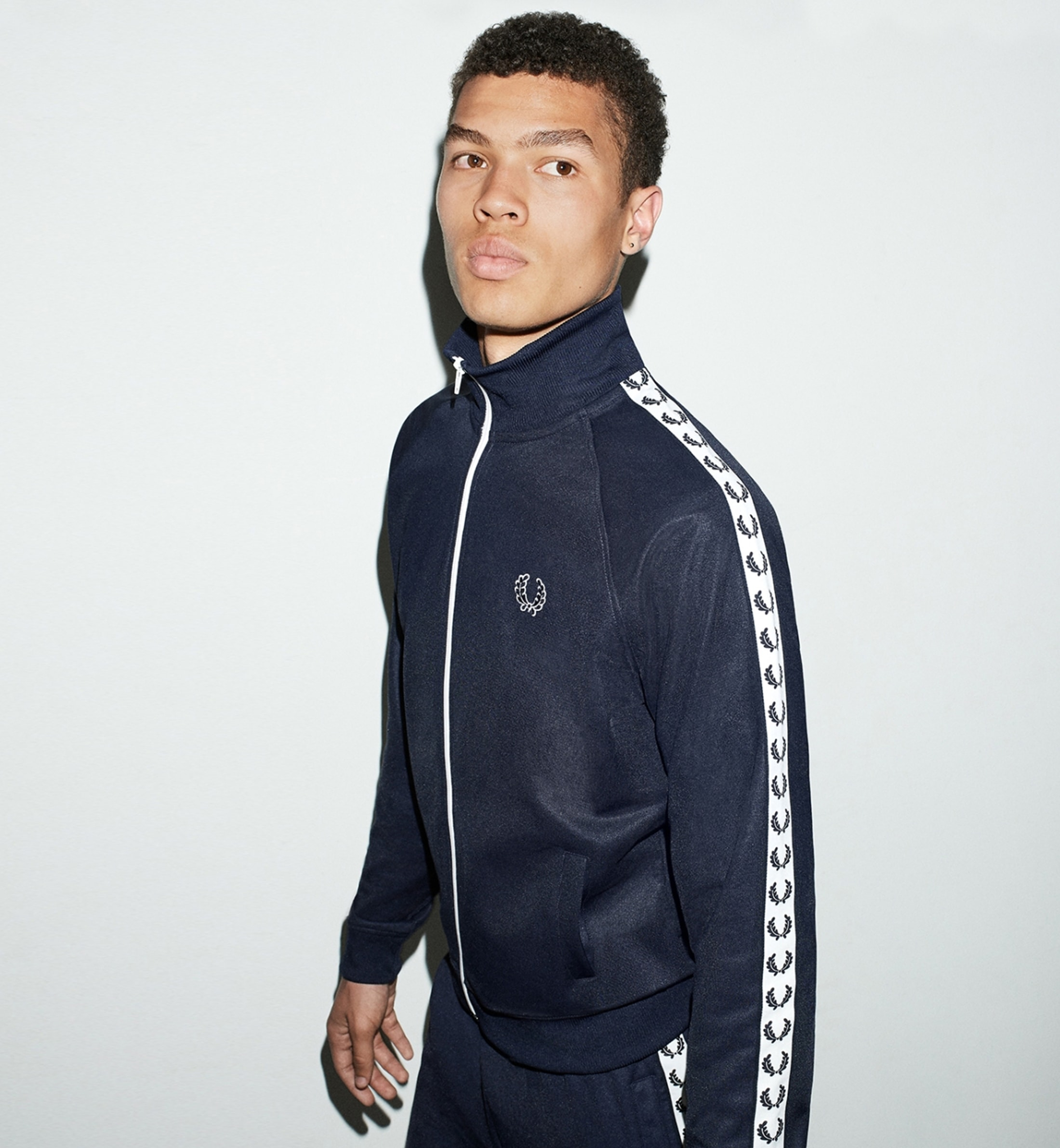Fred Perry Taped Track Jacket Navy foto 1