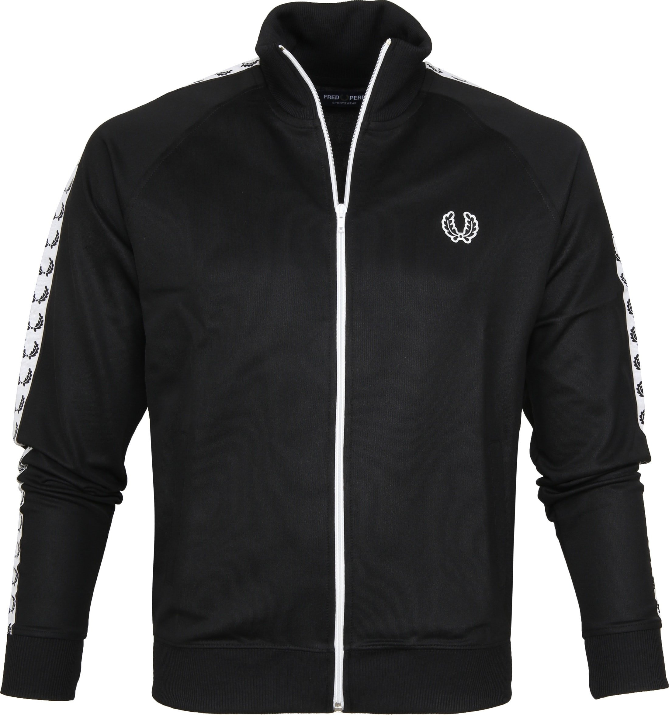 Fred Perry Taped Track Jacket Zwart foto 0