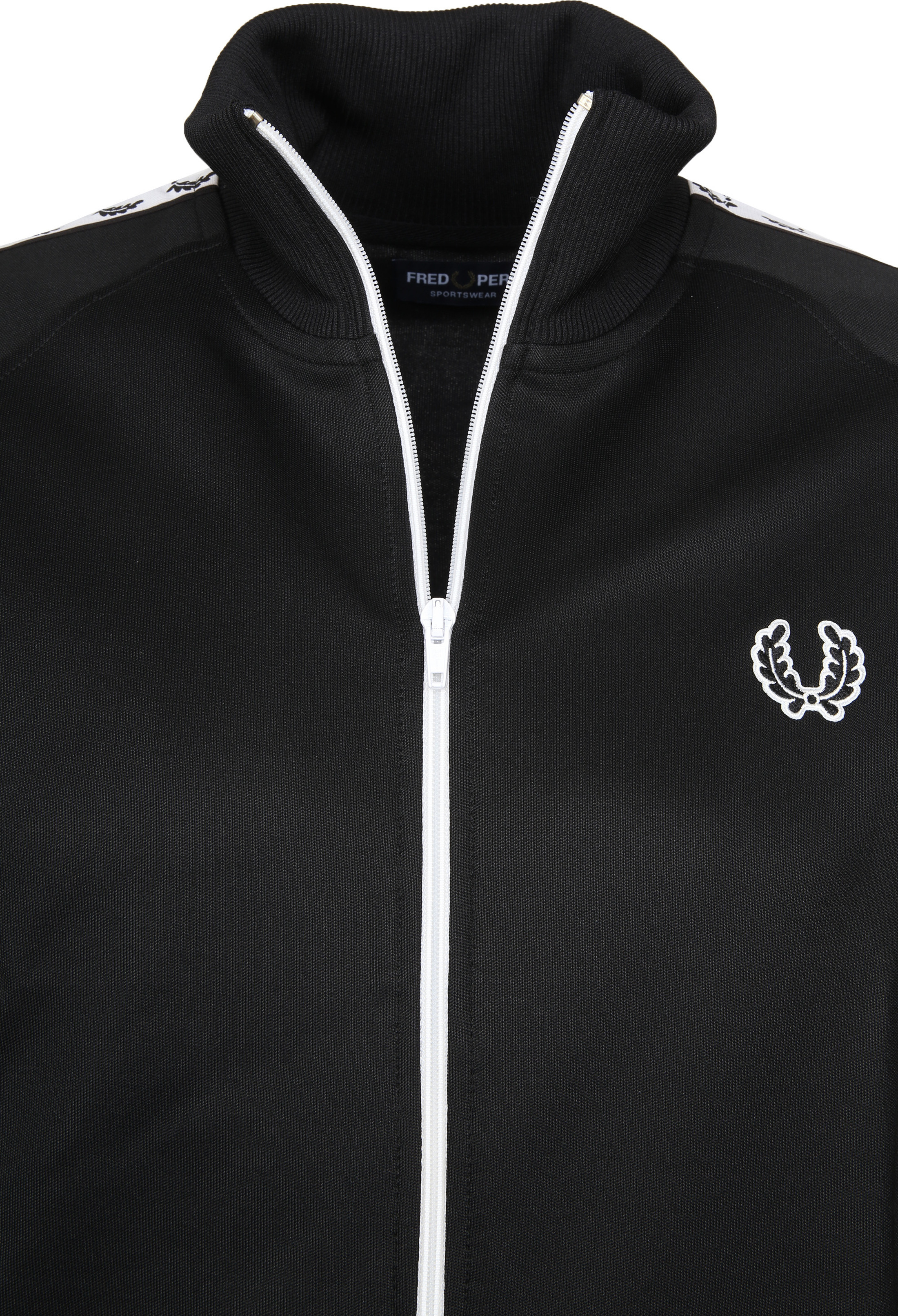 Fred Perry Taped Track Jacket Zwart foto 3