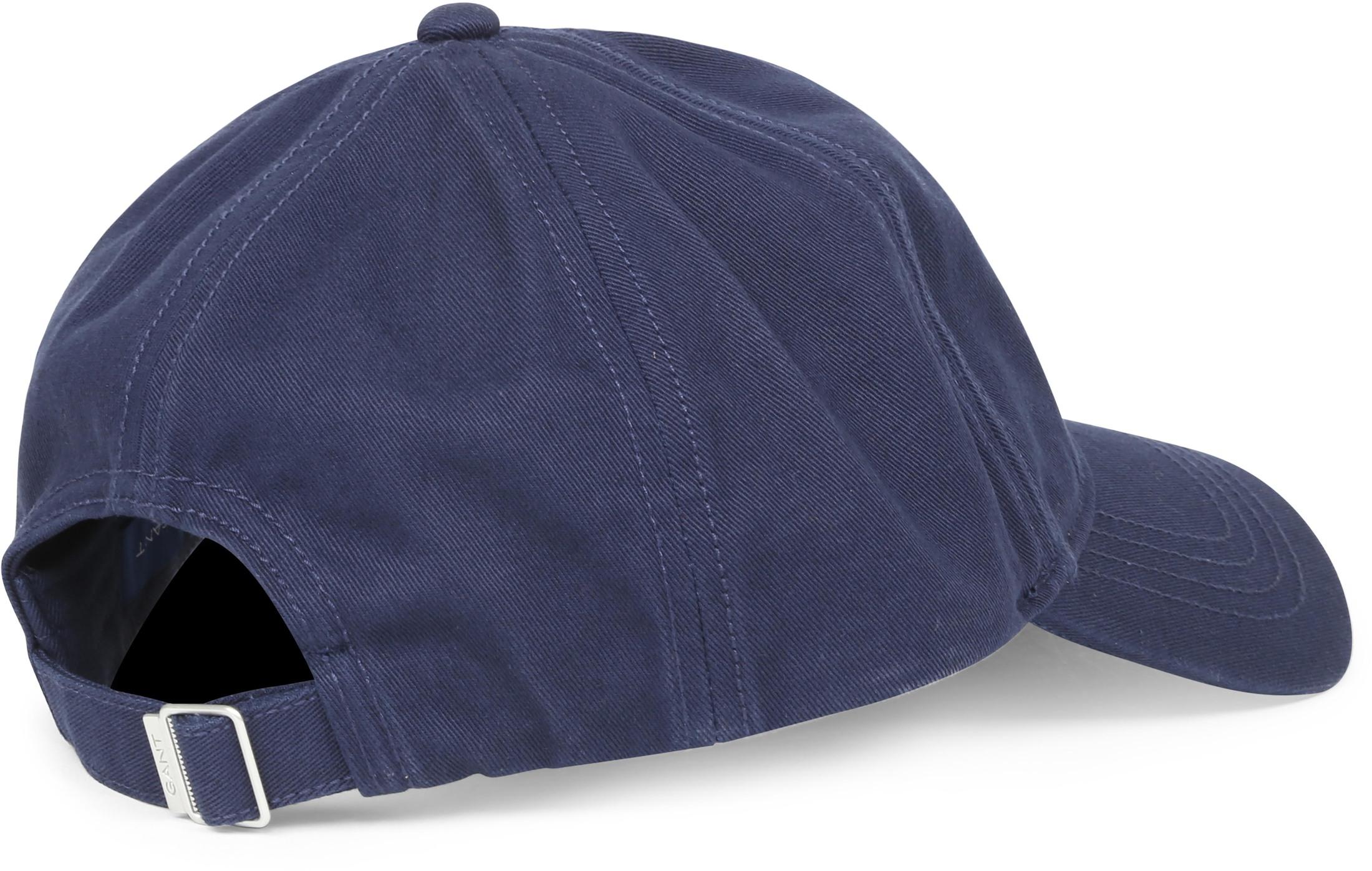 Gant Cap Twill Donkerblauw