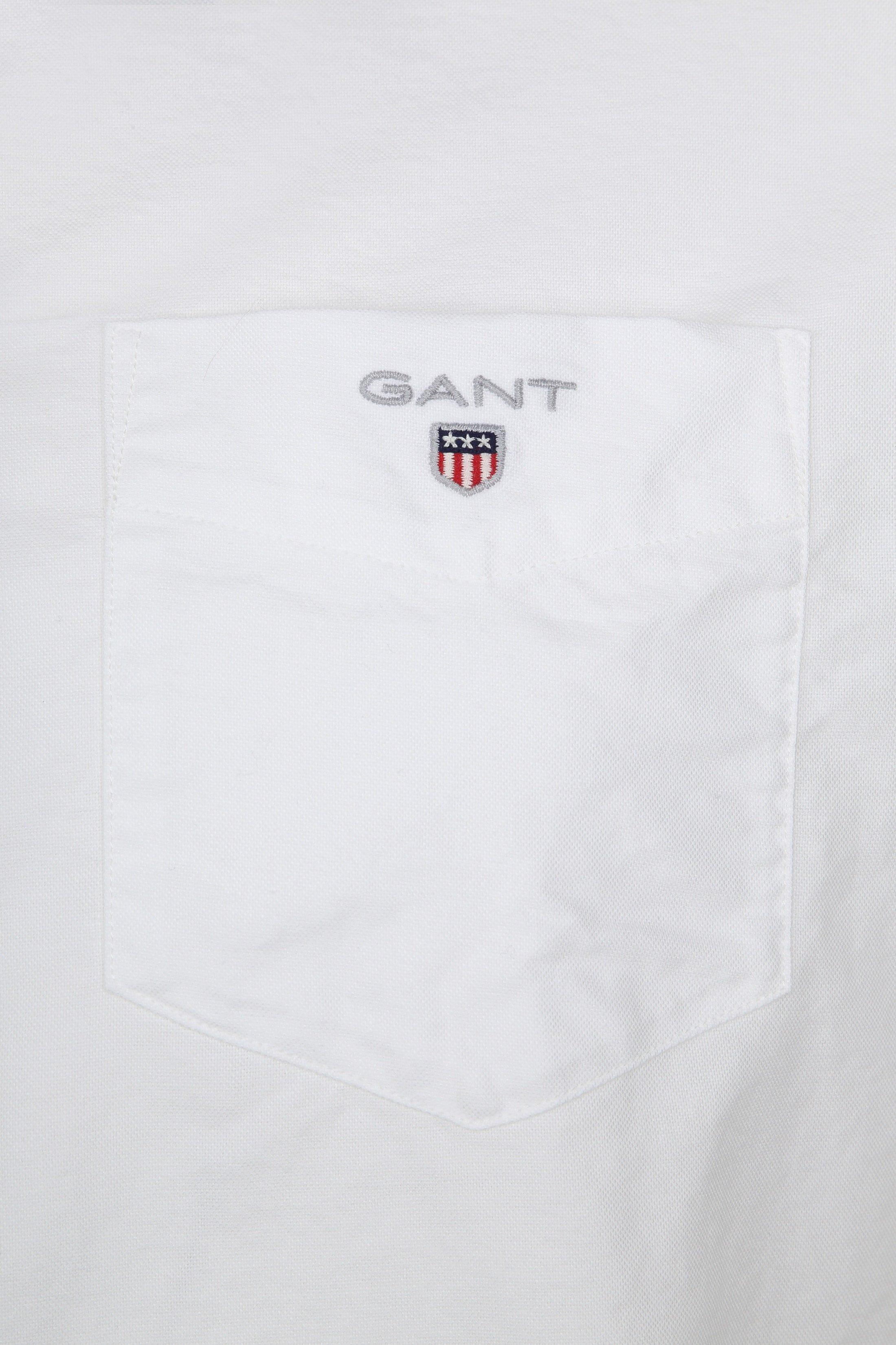 Gant Casual Hemd Oxford Wit