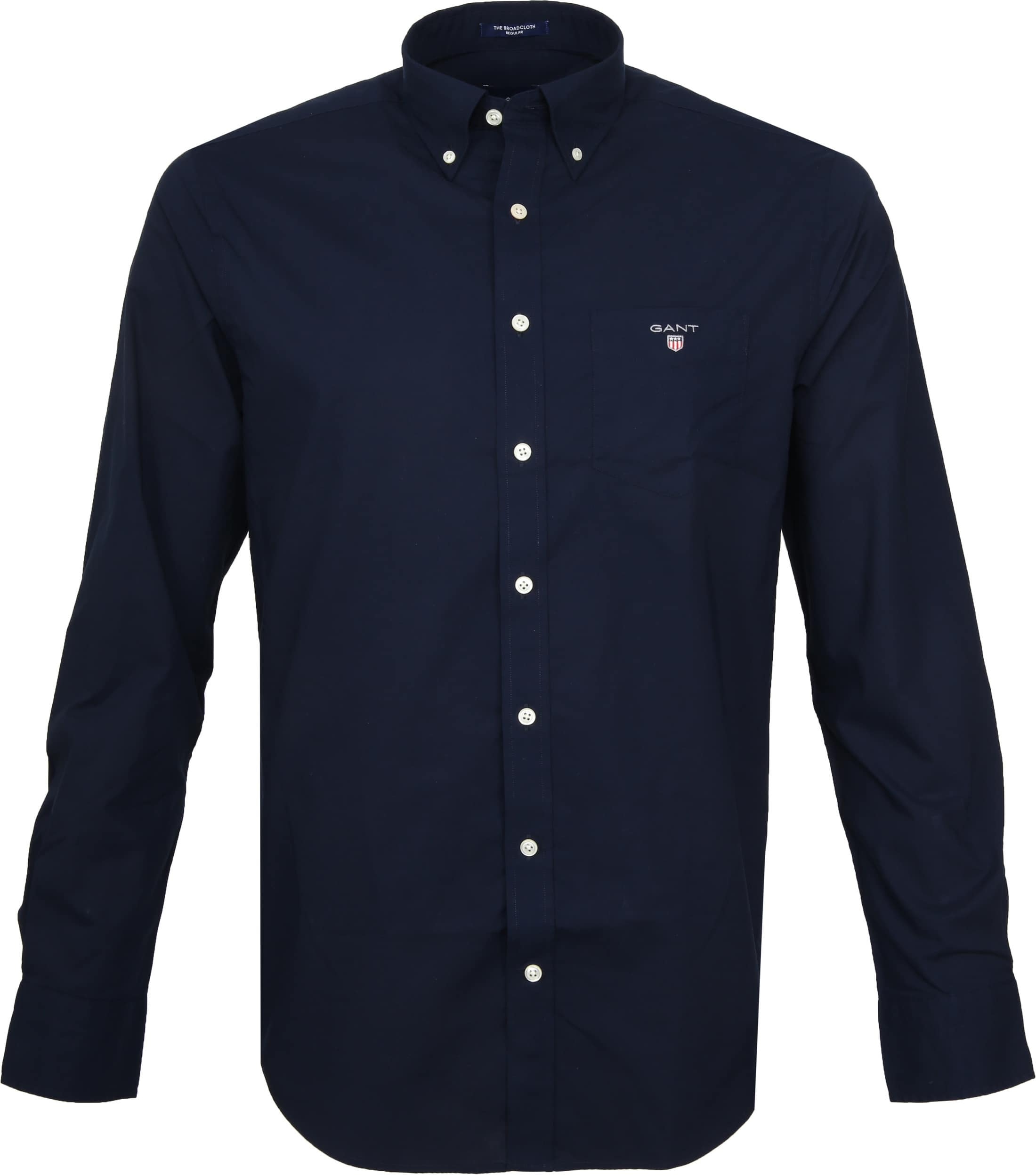 Gant Casual Overhemd Broadcloth Marine
