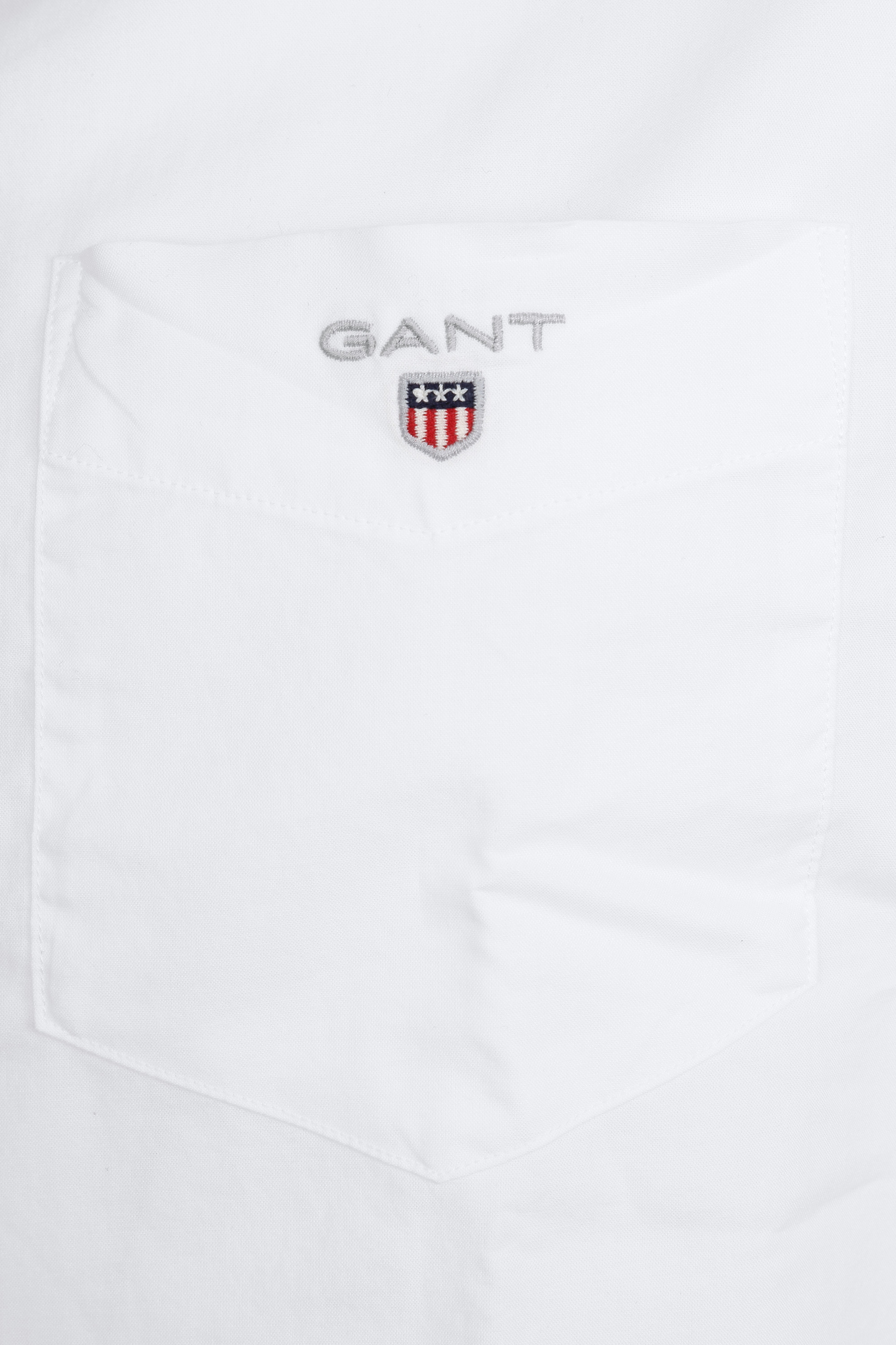 Gant Casual Overhemd Broadcloth Wit foto 1