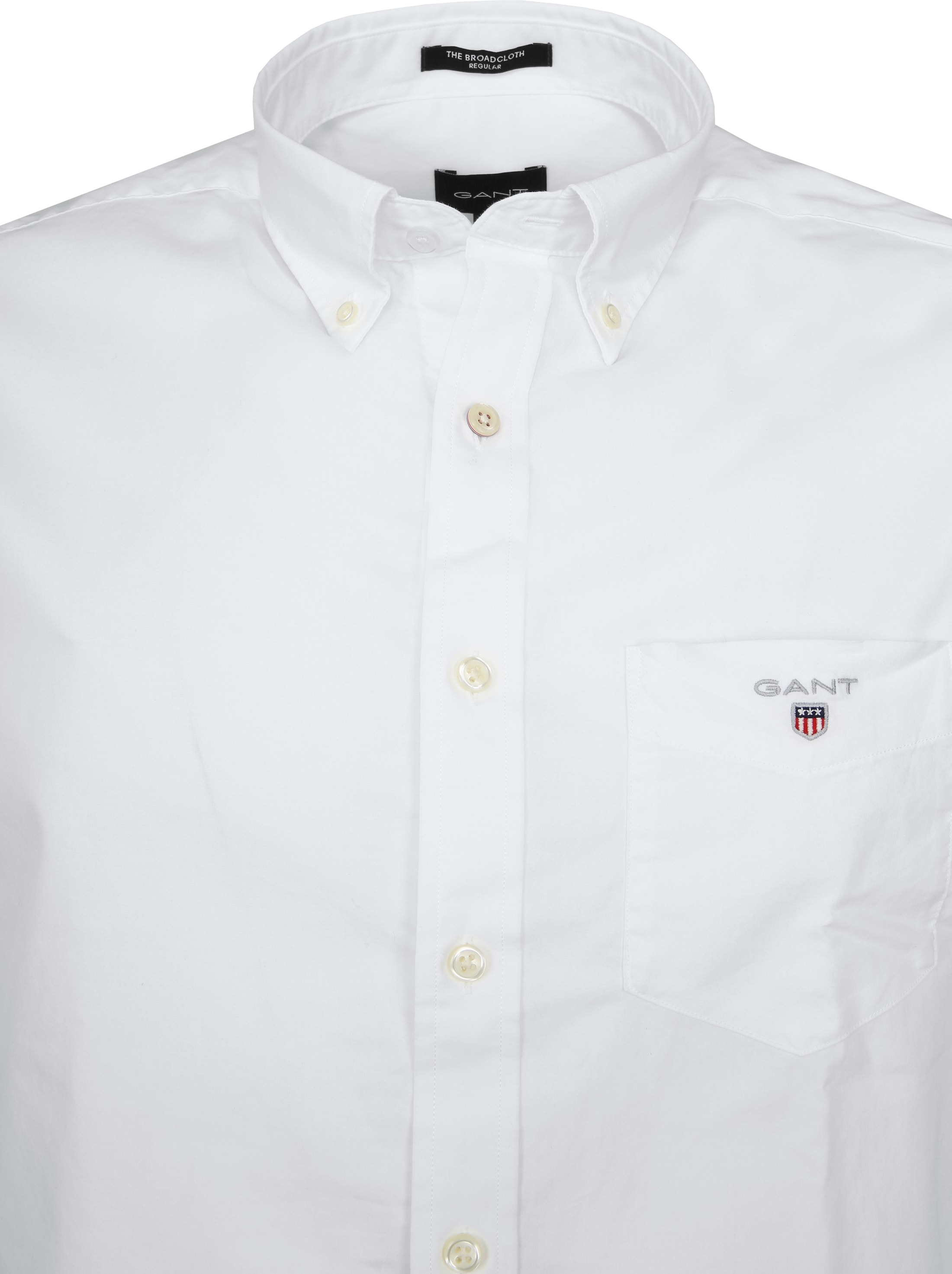 Gant Casual Overhemd Broadcloth Wit foto 2
