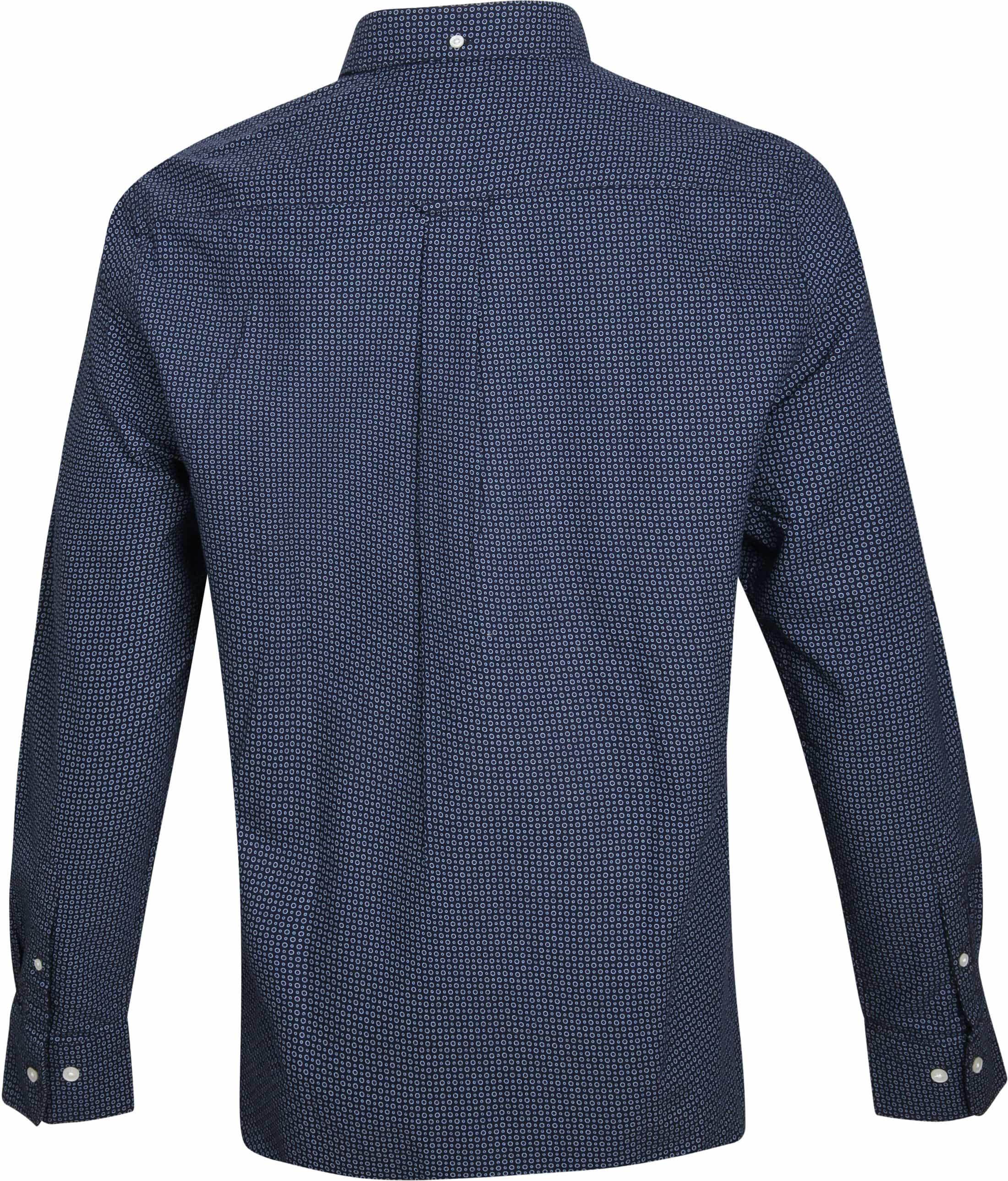 Gant Casual Overhemd Circle Navy foto 3