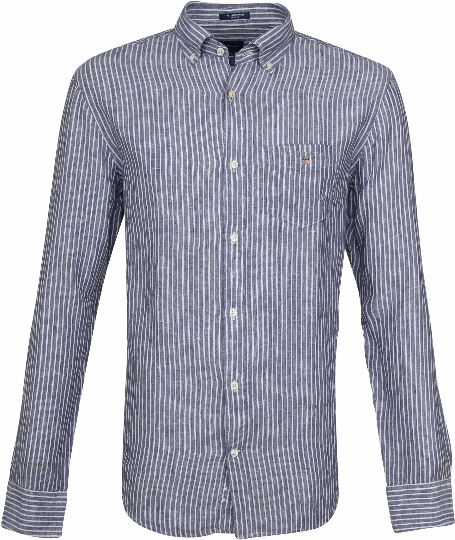 Gant Casual Overhemd Linnen Blauw foto 0