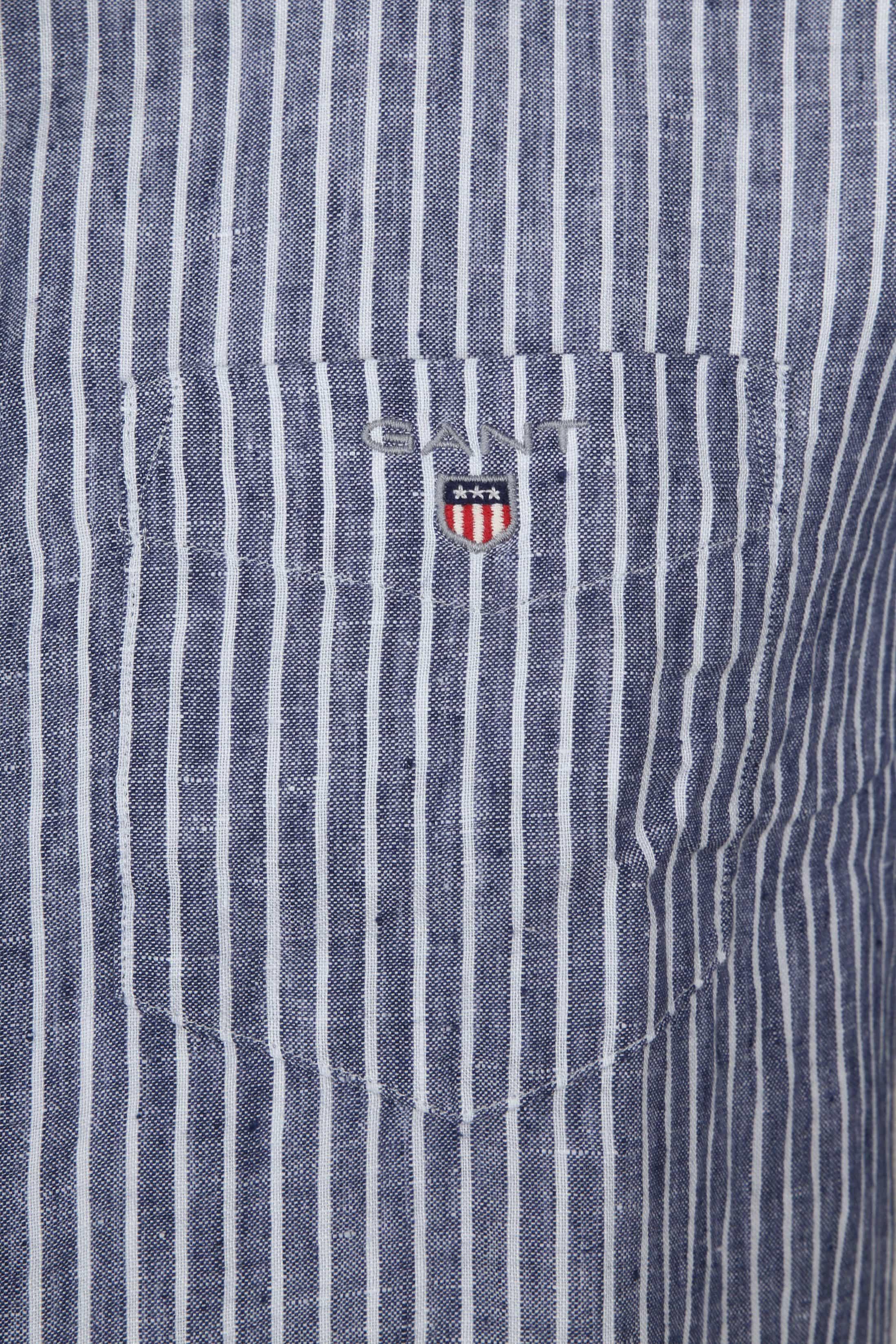 Gant Casual Overhemd Linnen Blauw foto 1