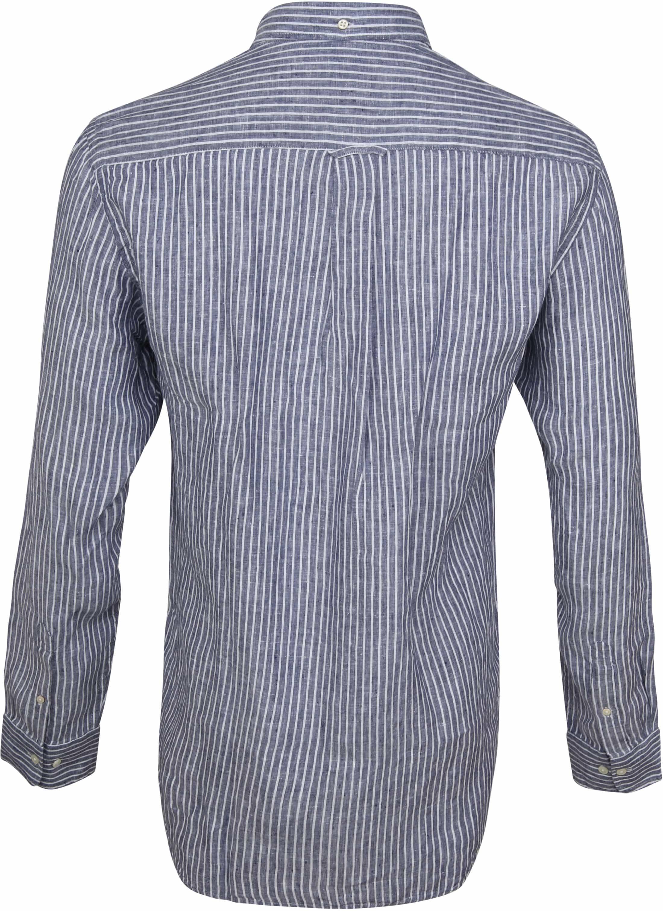 Gant Casual Overhemd Linnen Blauw foto 3