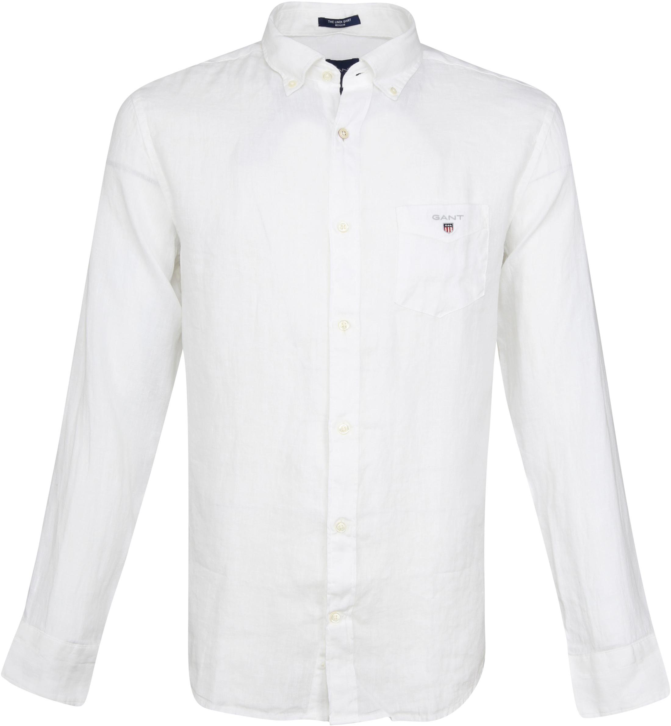 Gant Casual Overhemd Linnen Wit foto 0