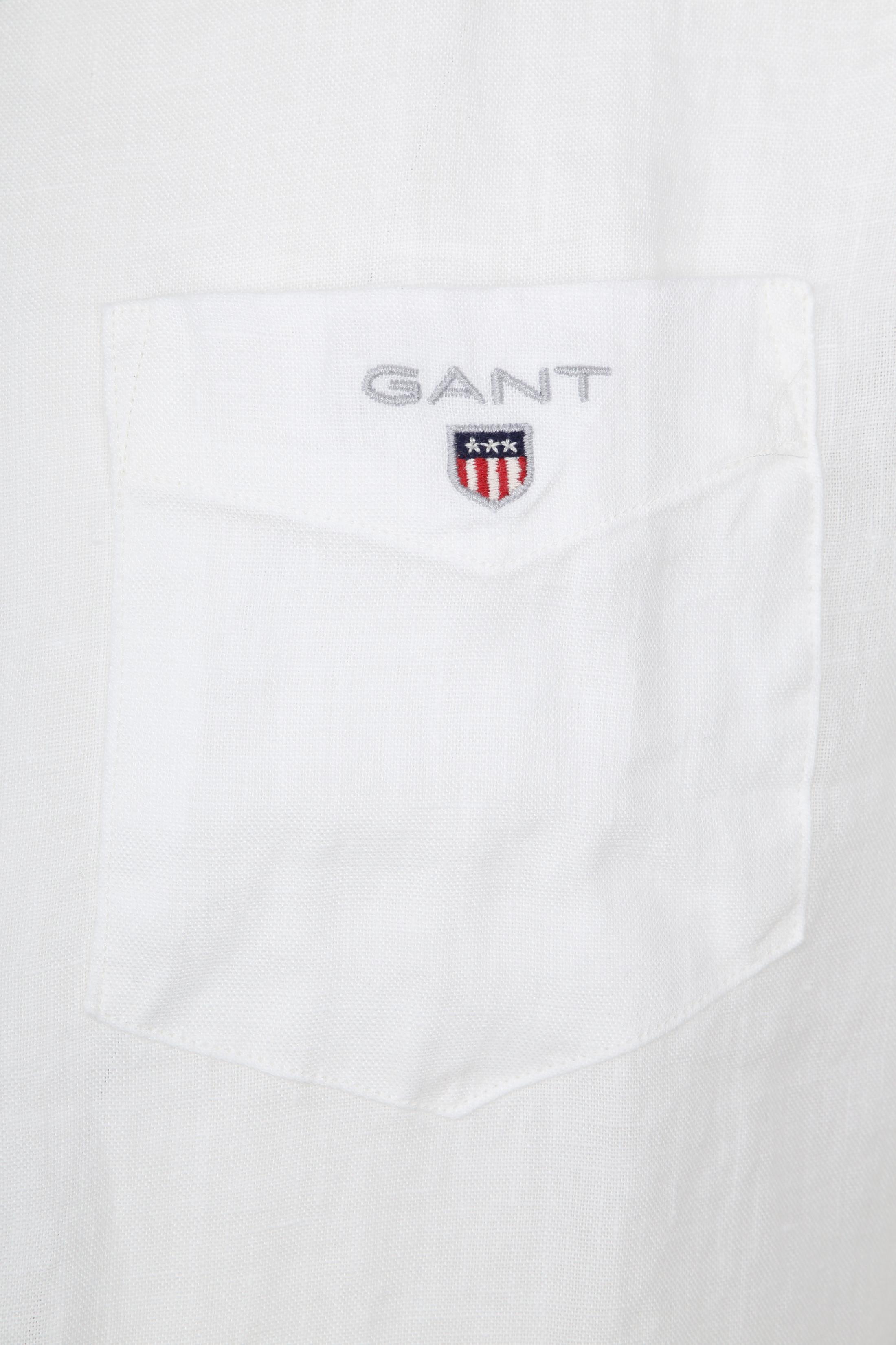 Gant Casual Overhemd Linnen Wit foto 1