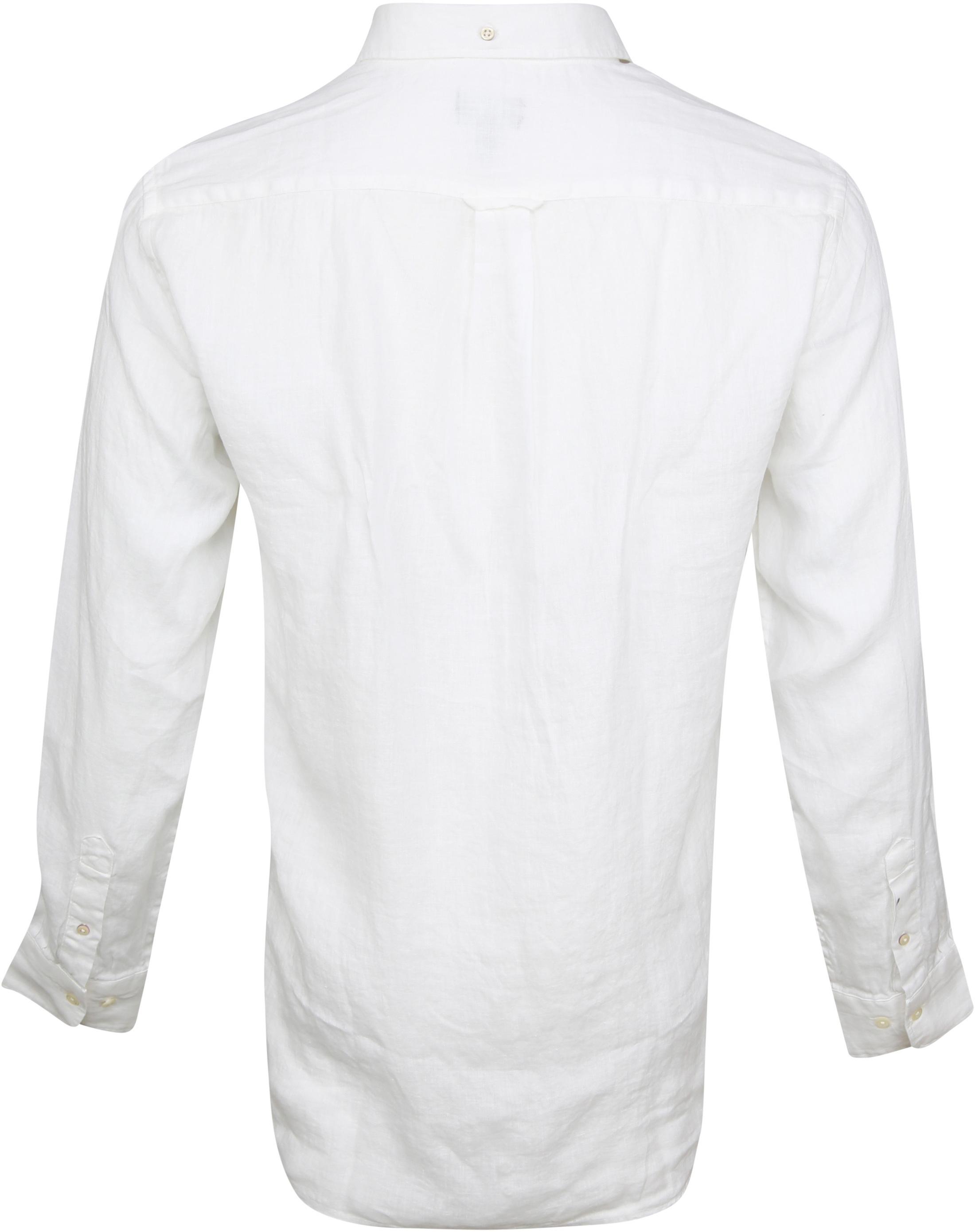 Gant Casual Overhemd Linnen Wit foto 3
