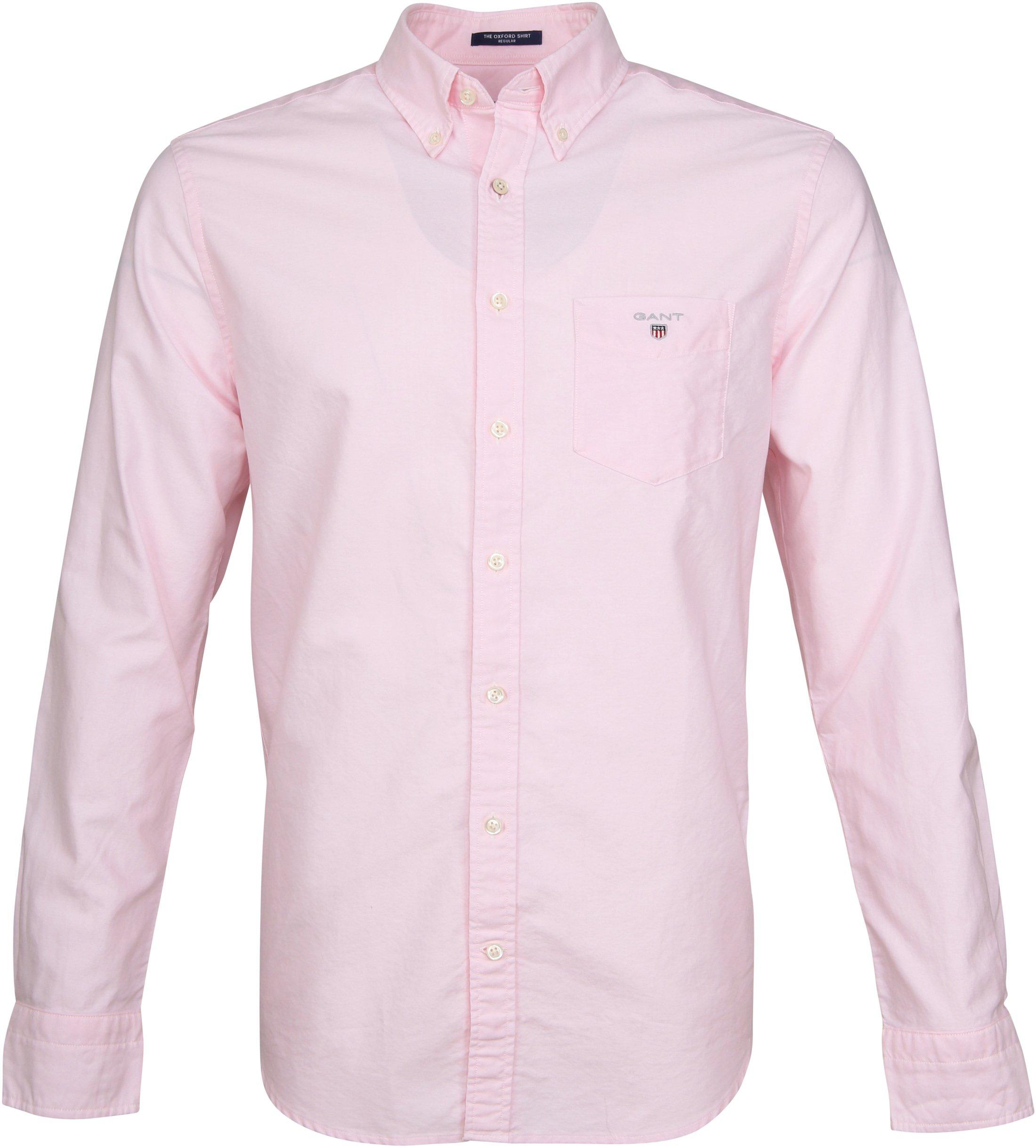 Gant Casual Overhemd Oxford Roze foto 0
