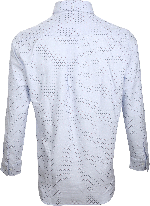 Gant Casual Overhemd Print Blauw foto 2