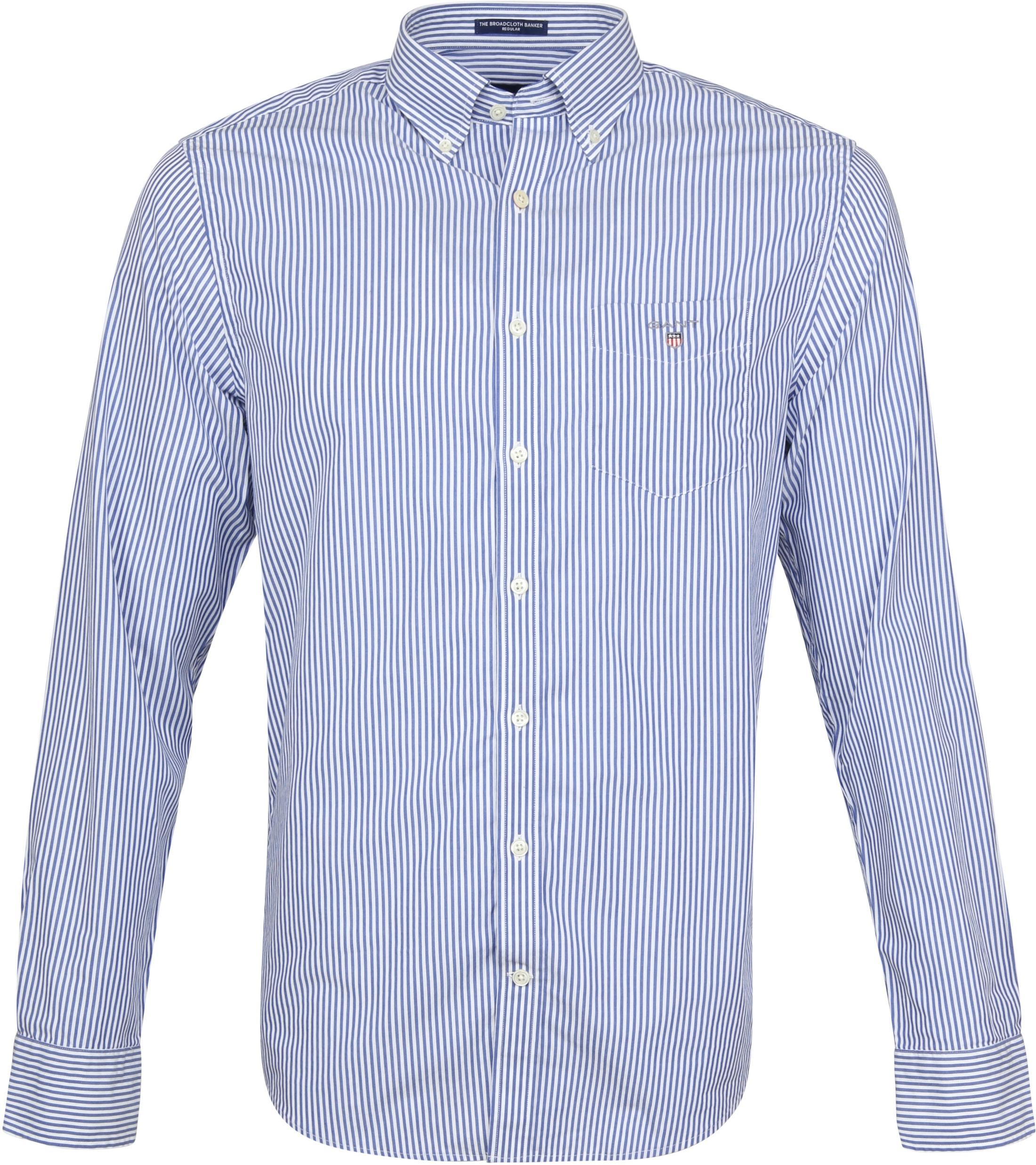 Gant Casual Overhemd Strepen Blauw foto 0