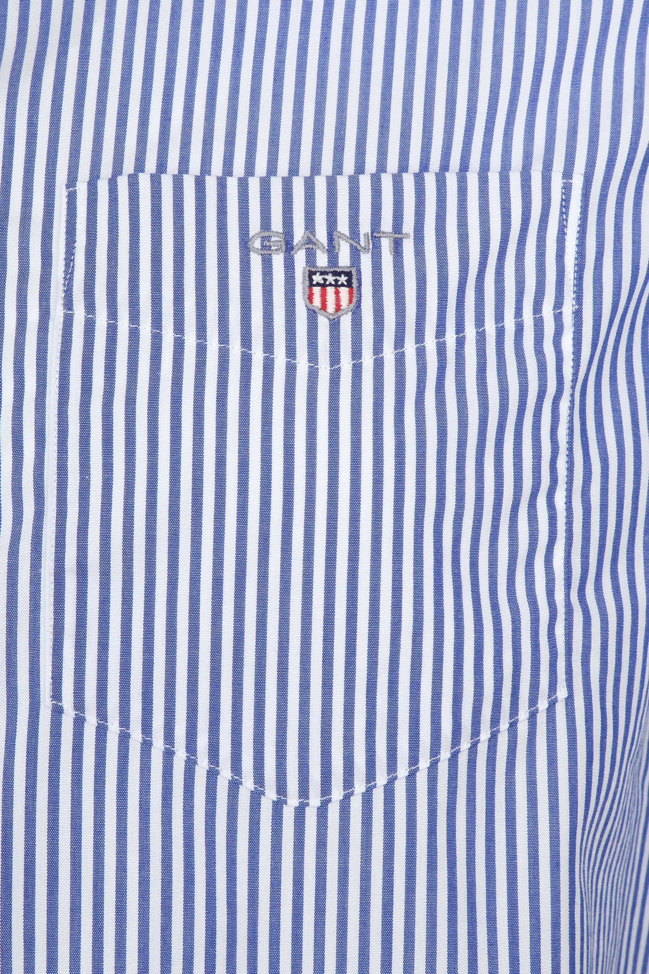 Gant Casual Overhemd Strepen Blauw foto 1