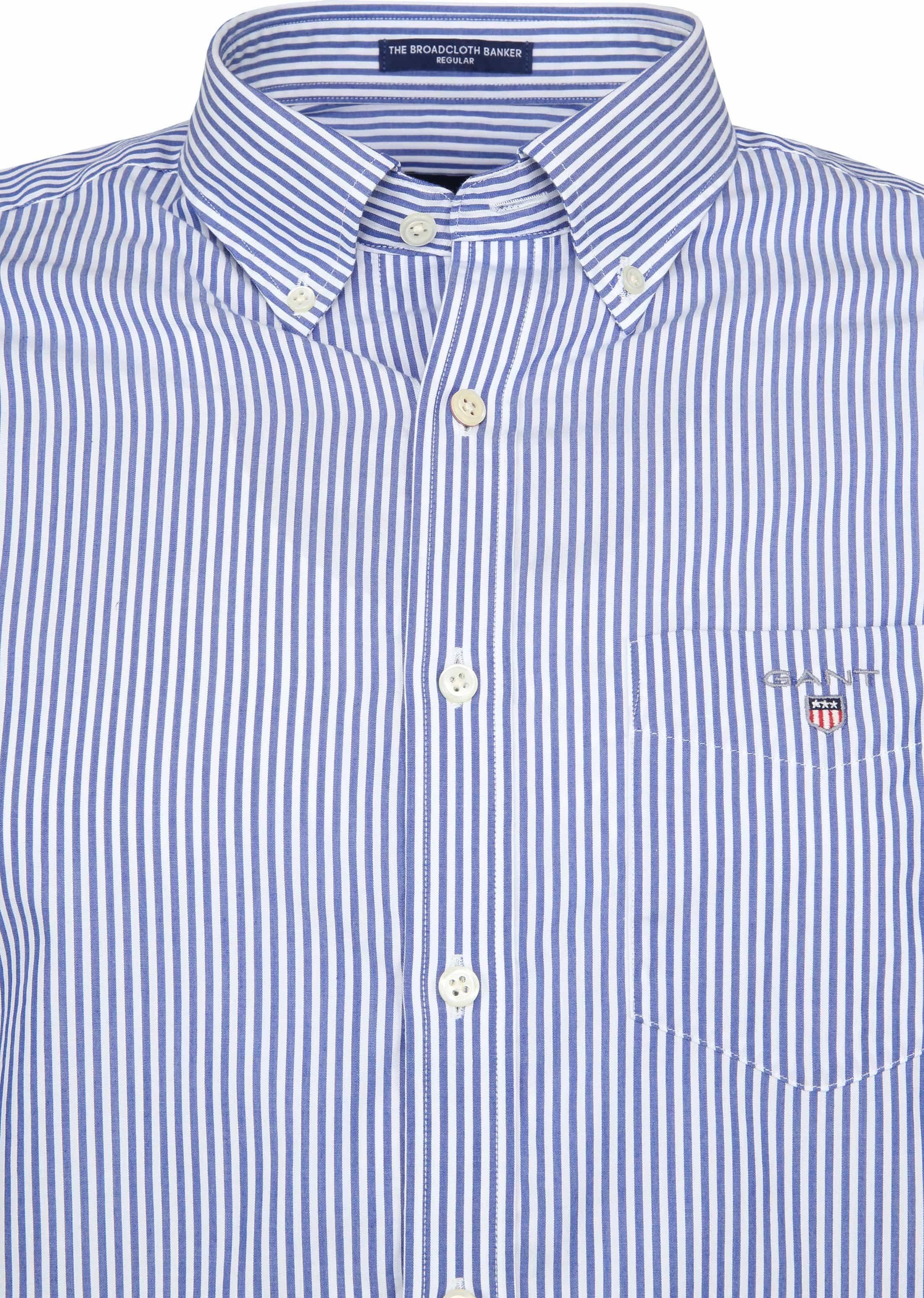 Gant Casual Overhemd Strepen Blauw foto 2
