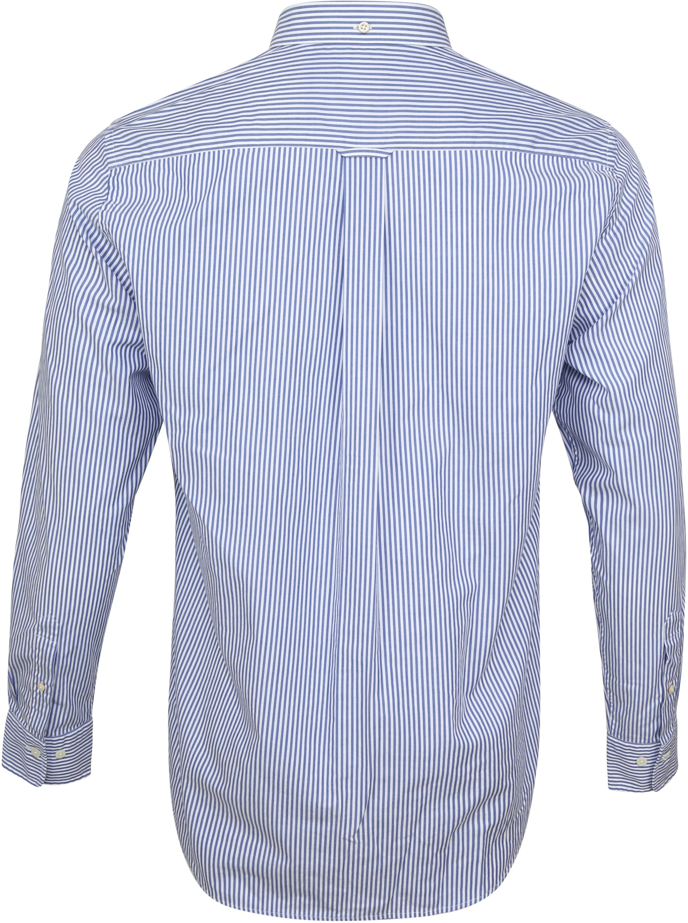 Gant Casual Overhemd Strepen Blauw foto 3