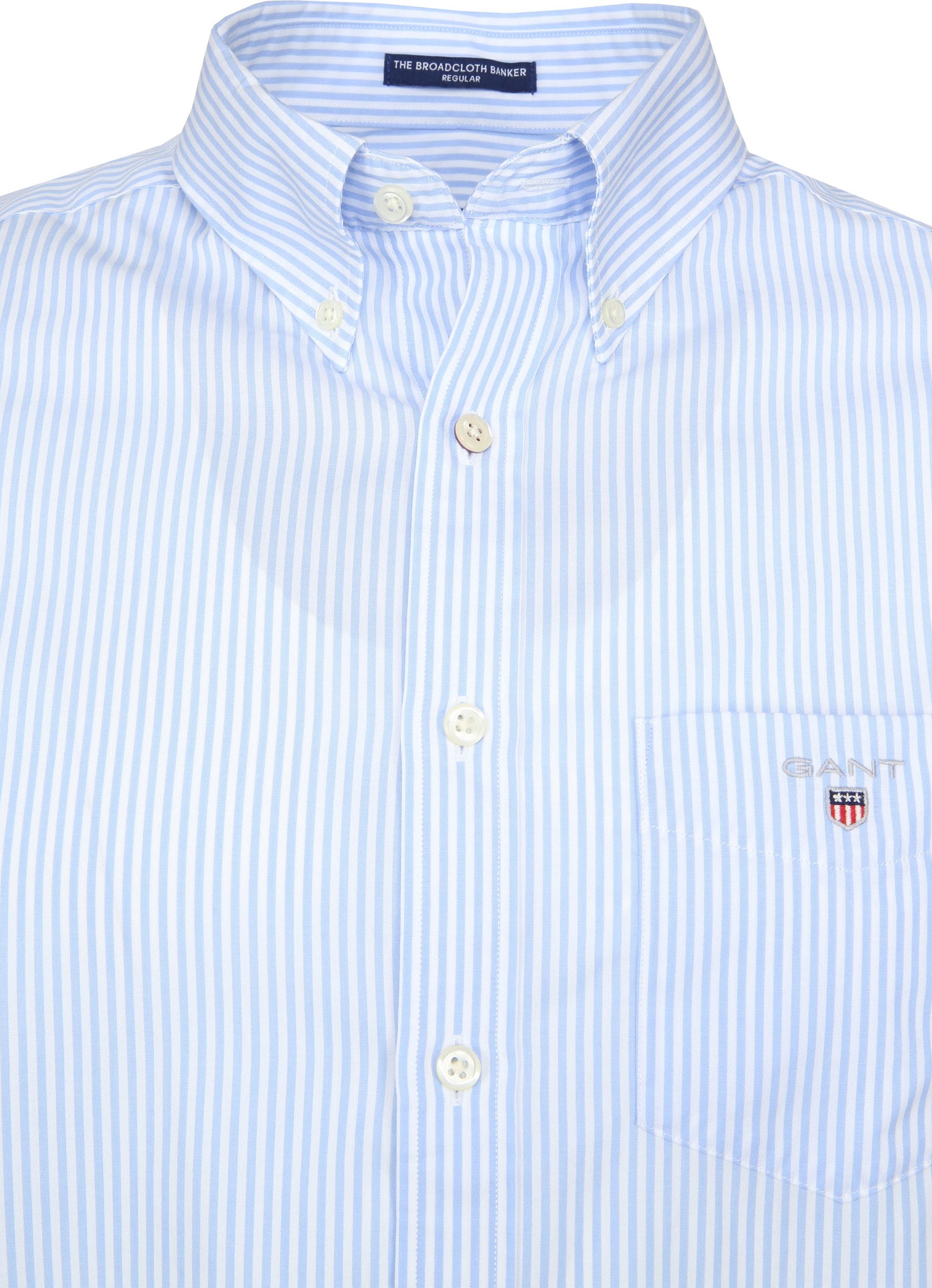 Gant Casual Overhemd Strepen Lichtblauw foto 1