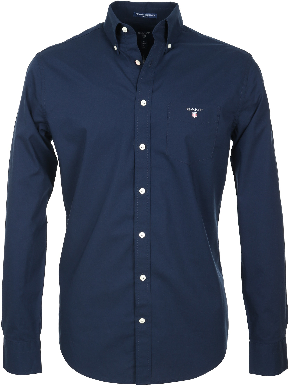 Gant Casual Overhemd Uni Navy foto 0