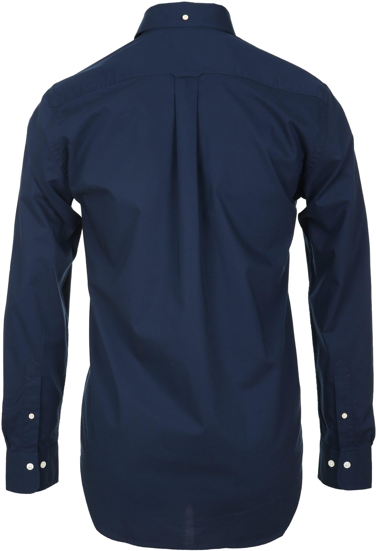 Gant Casual Overhemd Uni Navy foto 2