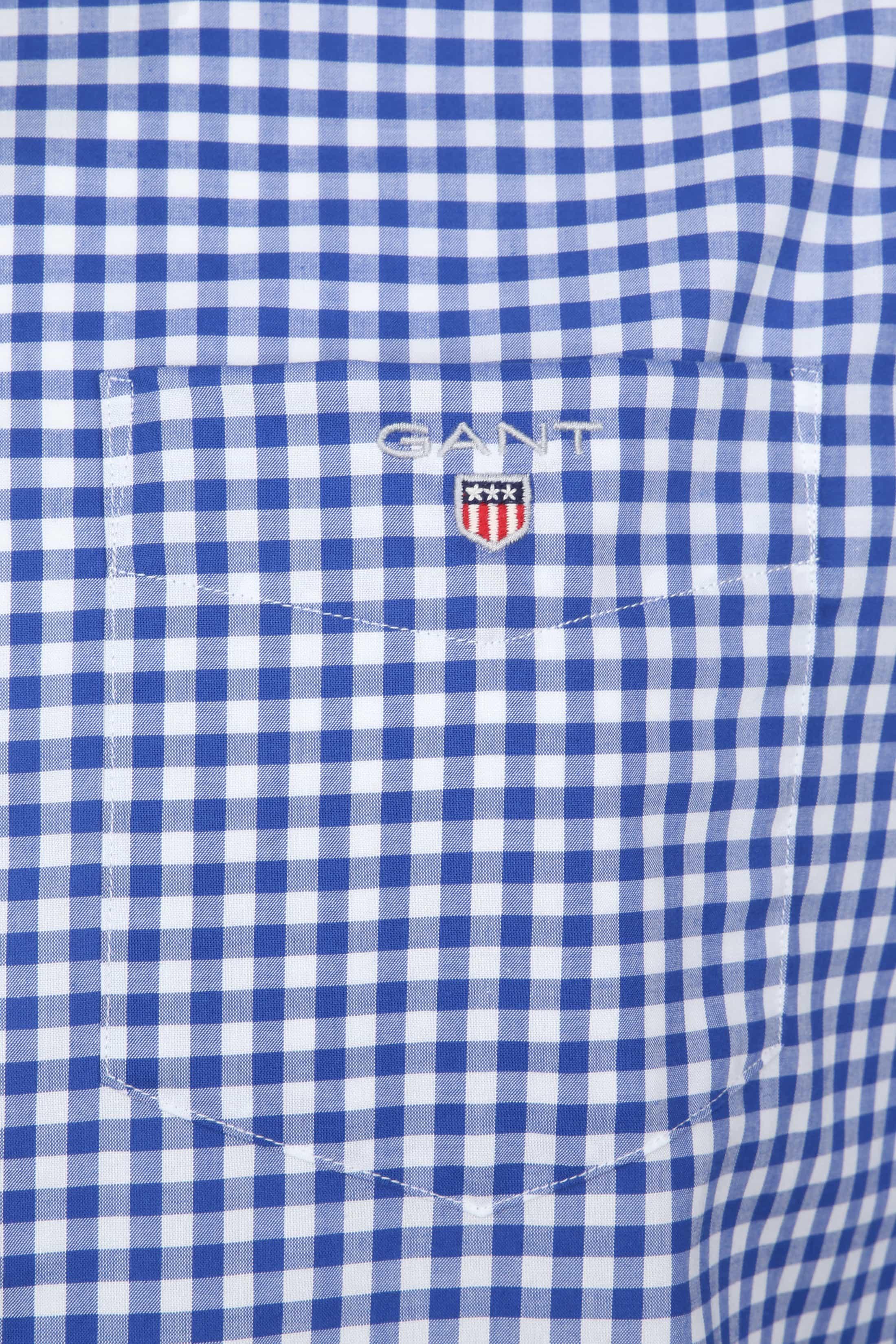 Gant Gingham Hemd Blauw Ruit