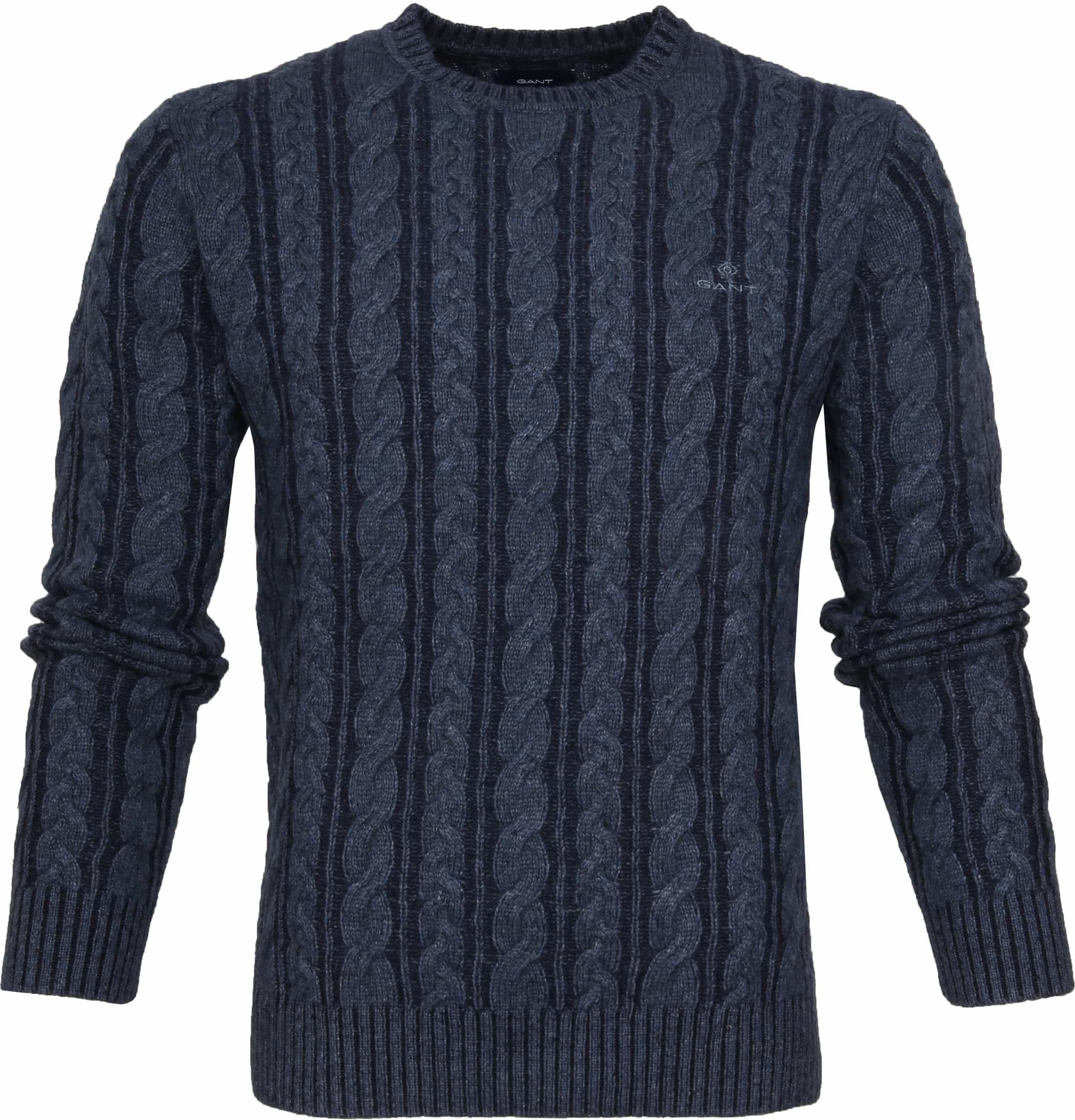 Gant Heavy Cable Pullover Navy foto 0