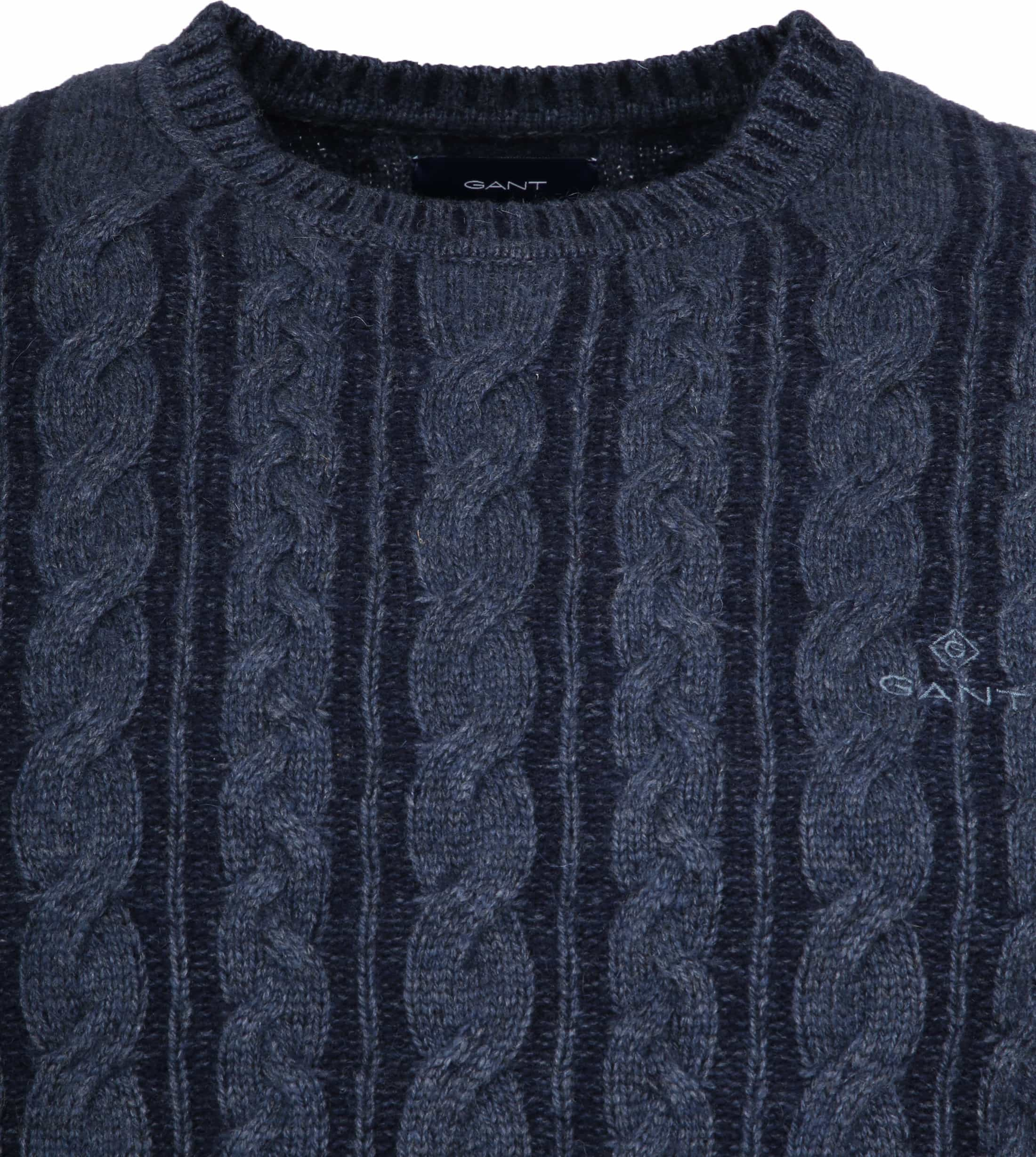 Gant Heavy Cable Pullover Navy foto 1