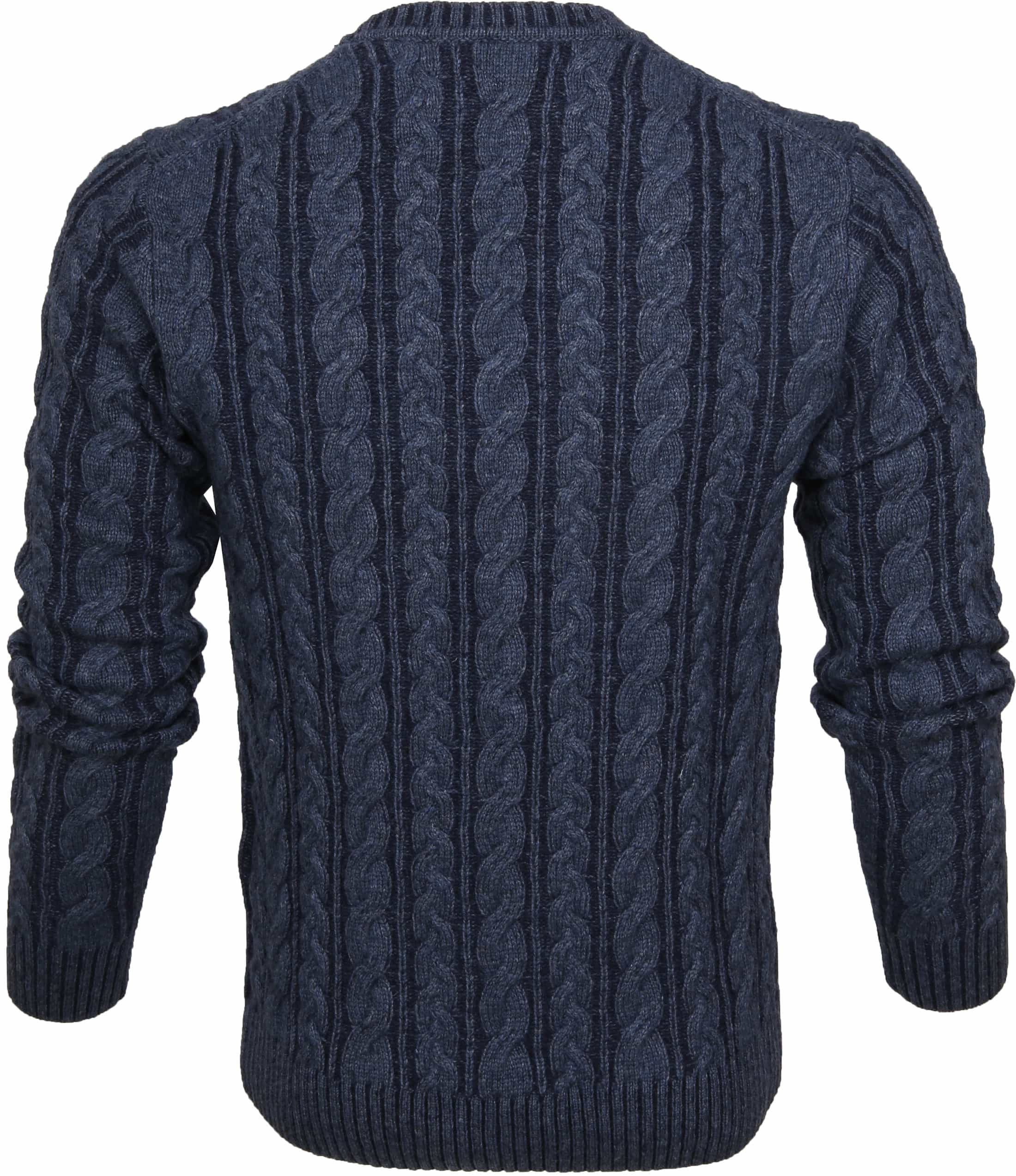 Gant Heavy Cable Pullover Navy foto 3