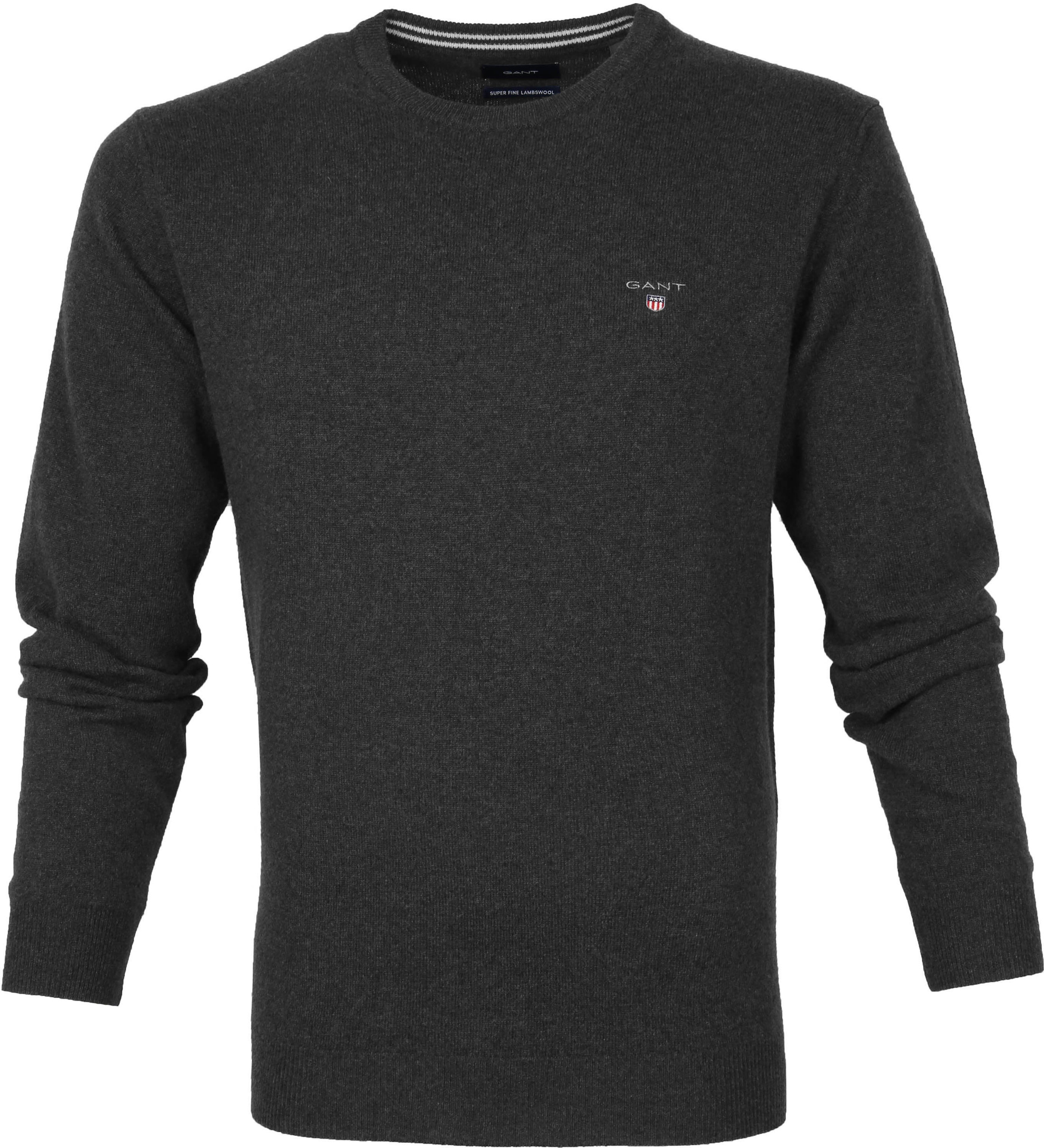 Gant Lambswool Pullover Anthracite