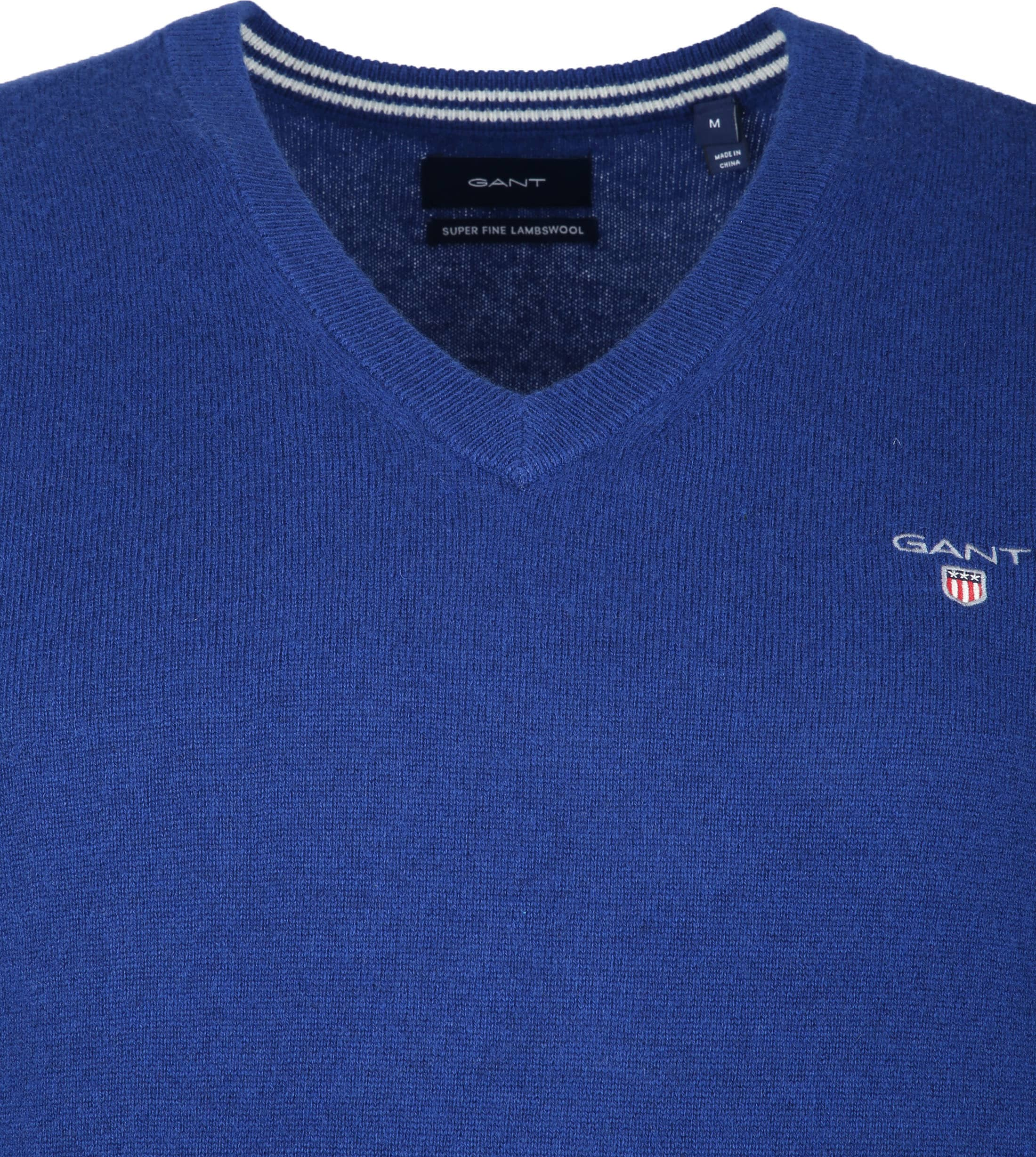 Gant Lambswool Pullover Blue foto 1